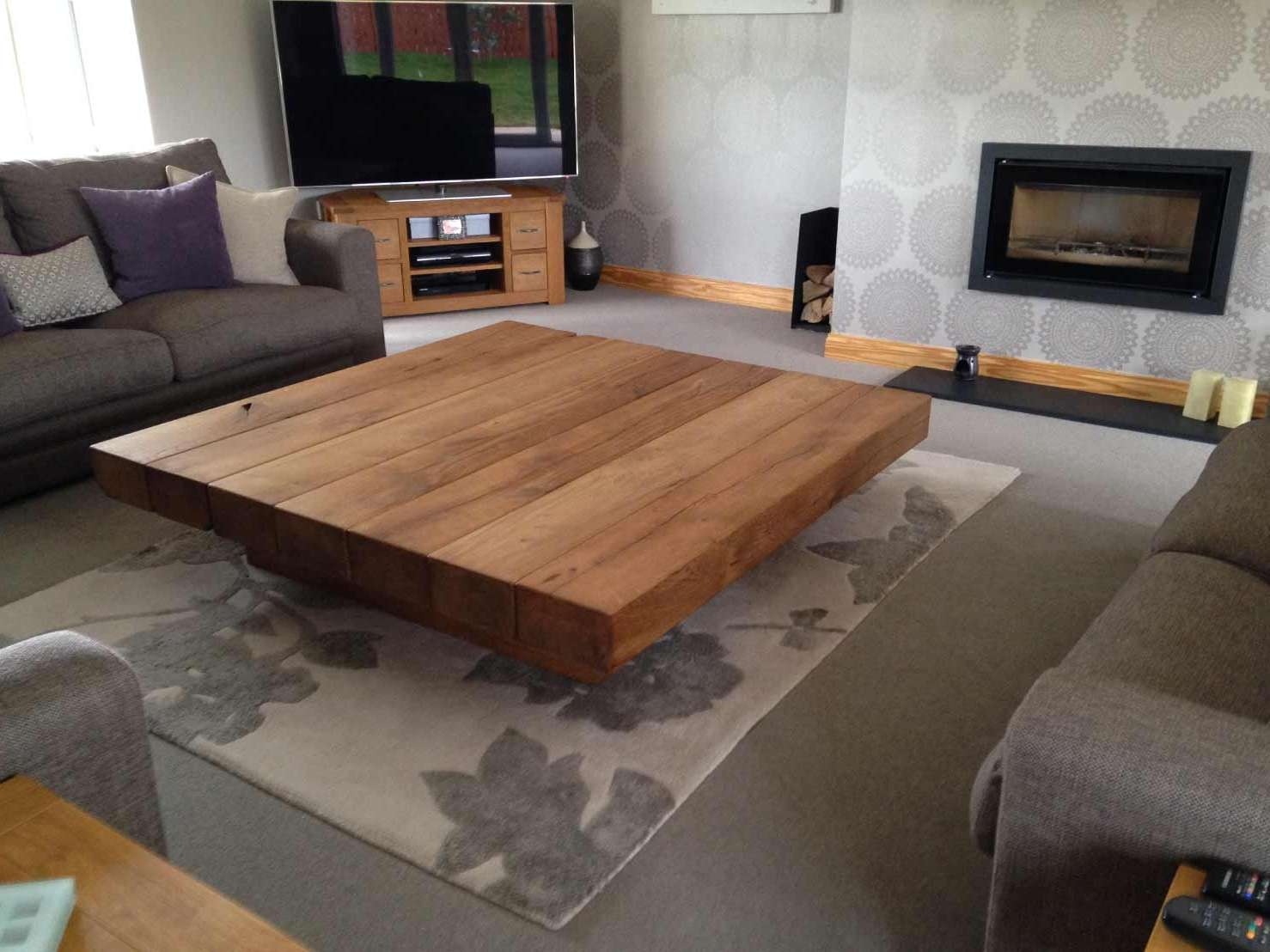 Featured Photo of Large Low Oak Coffee Tables