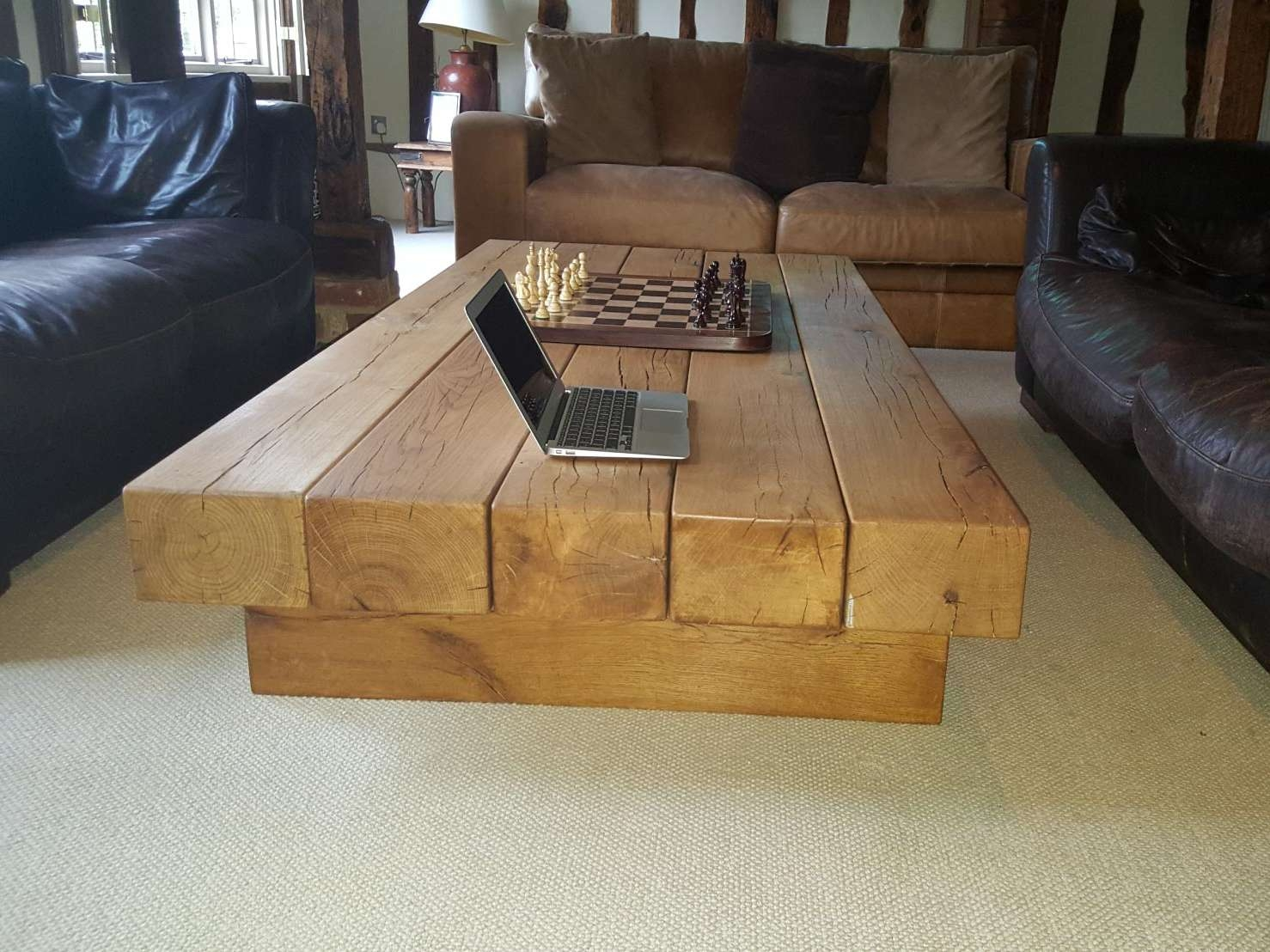 Abacus Tables Within Most Recently Released Oak Beam Coffee Tables (View 6 of 20)