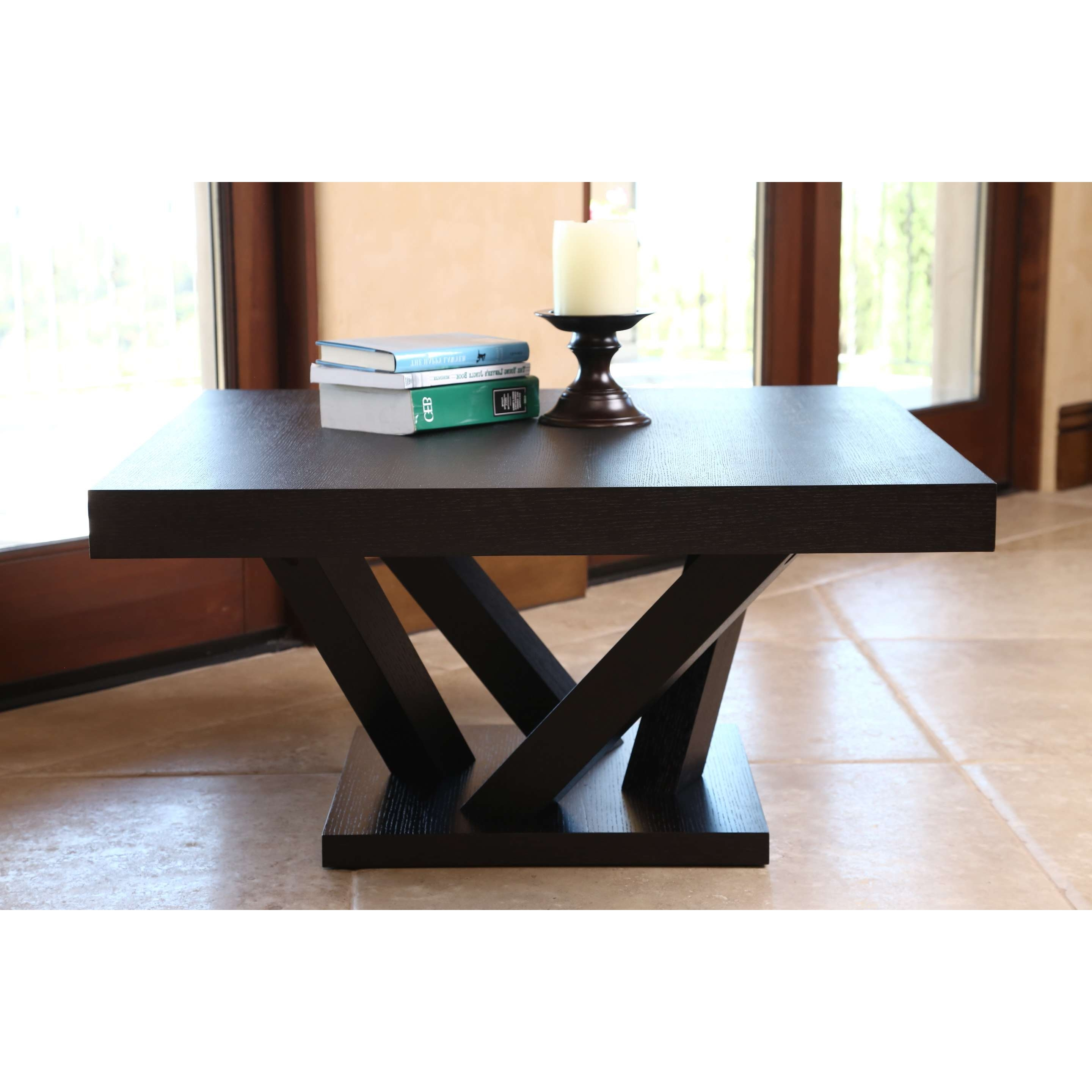 Abbyson Cosmo Espresso Wood Square Coffee Table – Free Shipping Within Fashionable Cosmo Coffee Tables (View 20 of 20)