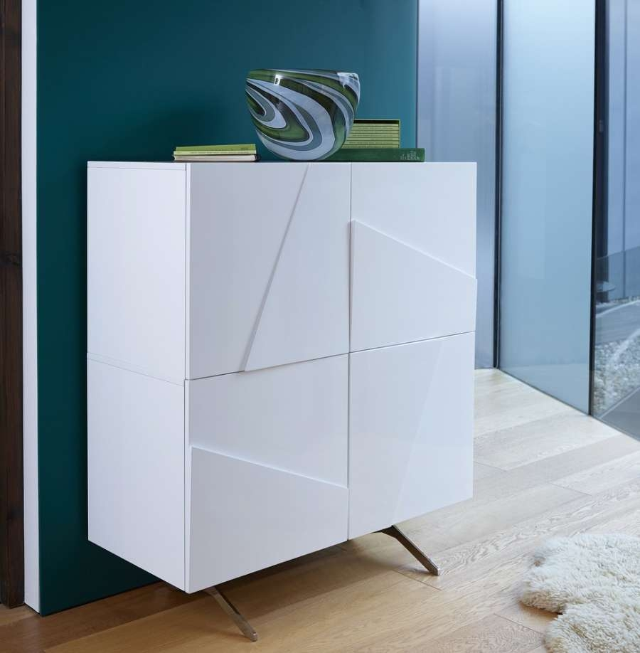 Abdabs Furniture – Glacier White Tall Buffet Sideboard With Regard To White Buffet Sideboards (View 1 of 20)