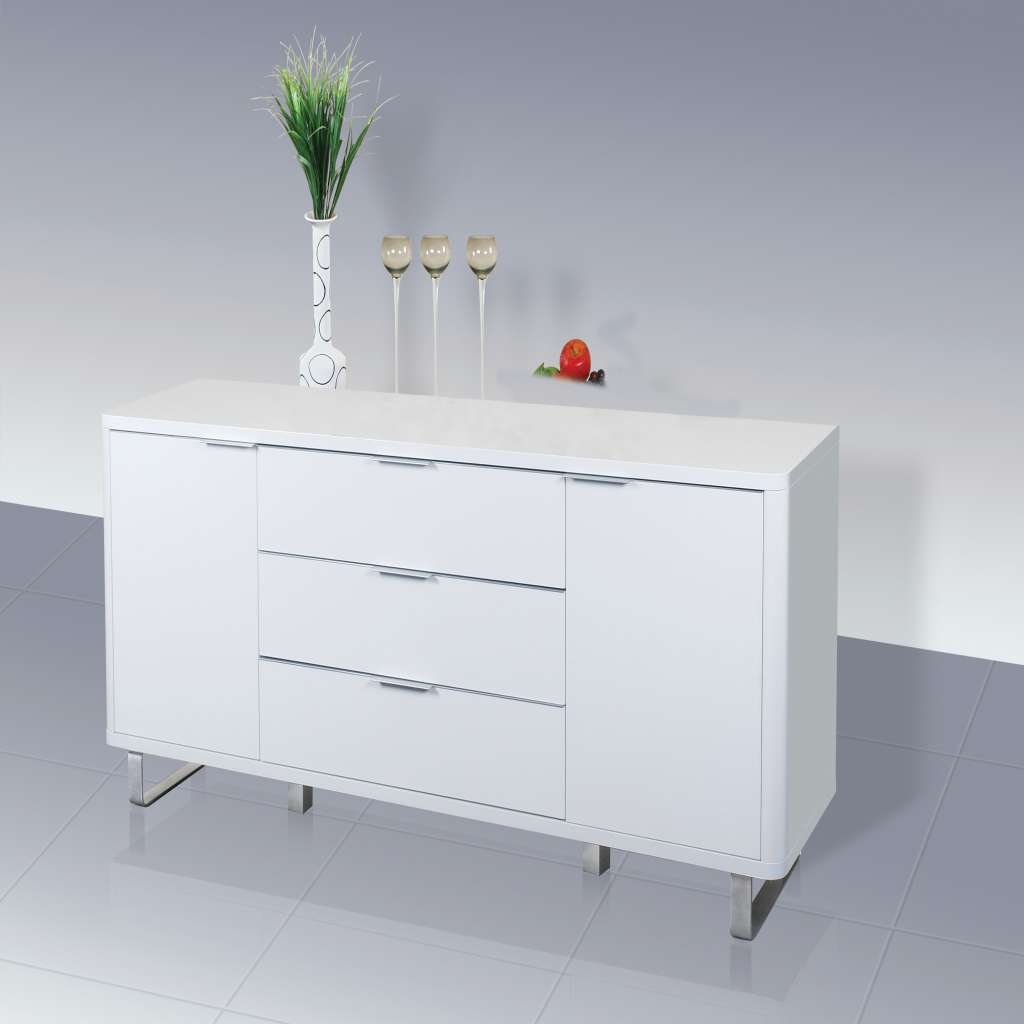 Accent Sideboard High Gloss White Lpd Furniture In High Gloss With Regard To Uk Gloss Sideboards (View 2 of 20)