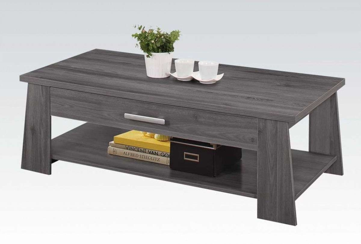 Acme Furniture Falan Dark Gray Coffee Table (View 1 of 20)