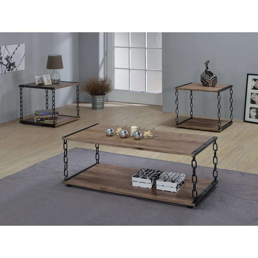 Acme Furniture Jodie Rustic Oak Built In Storage Coffee Table Within Widely Used Oak Coffee Table With Storage (View 10 of 20)