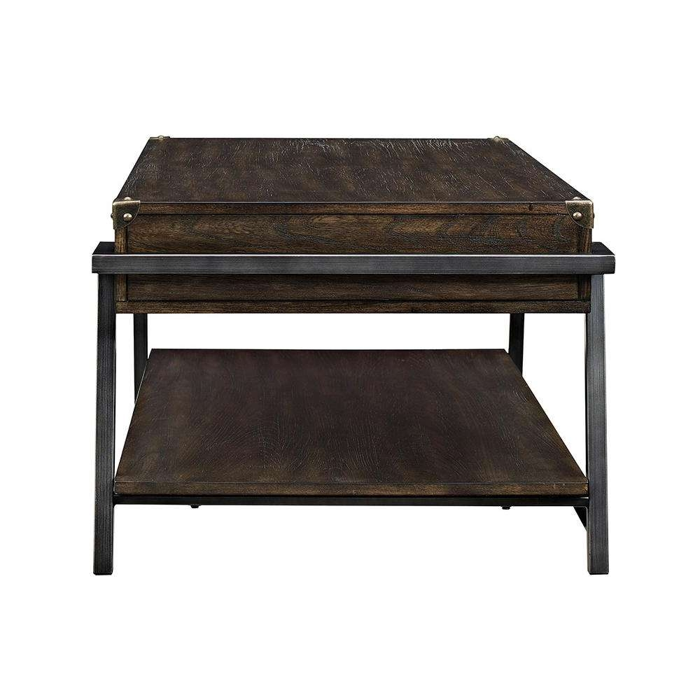 Acme Furniture Kailas Dark Oak Built In Storage Coffee Table 82280 Within Fashionable Dark Oak Coffee Tables (View 3 of 20)