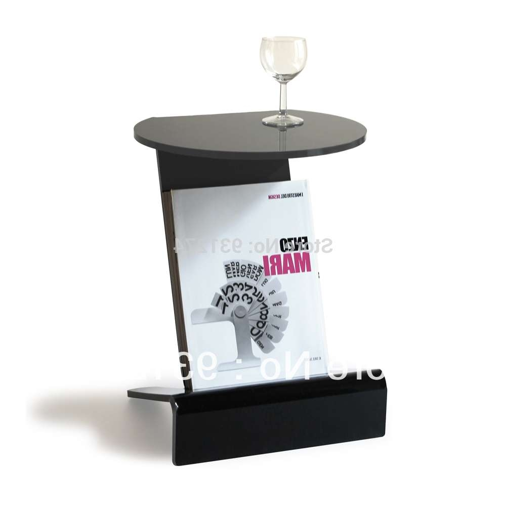 Acrylic Side Table With Magazine Rack Coffee Table With Storage With Regard To 2017 Acrylic Coffee Tables With Magazine Rack (View 4 of 20)