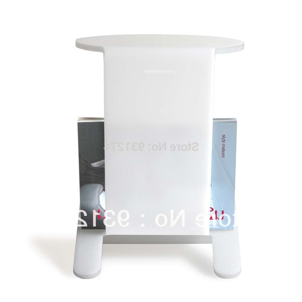 Acrylic Side Table With Magazine Rack Coffee Table With Storage With Regard To Newest Coffee Tables With Magazine Storage (View 12 of 20)