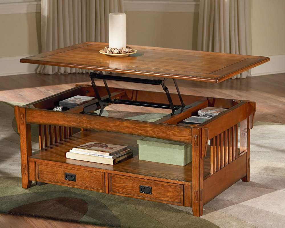 Adorable Oak Coffee Table With Lift Top On Interior Home Trend For Newest Coffee Table With Raised Top (View 1 of 20)