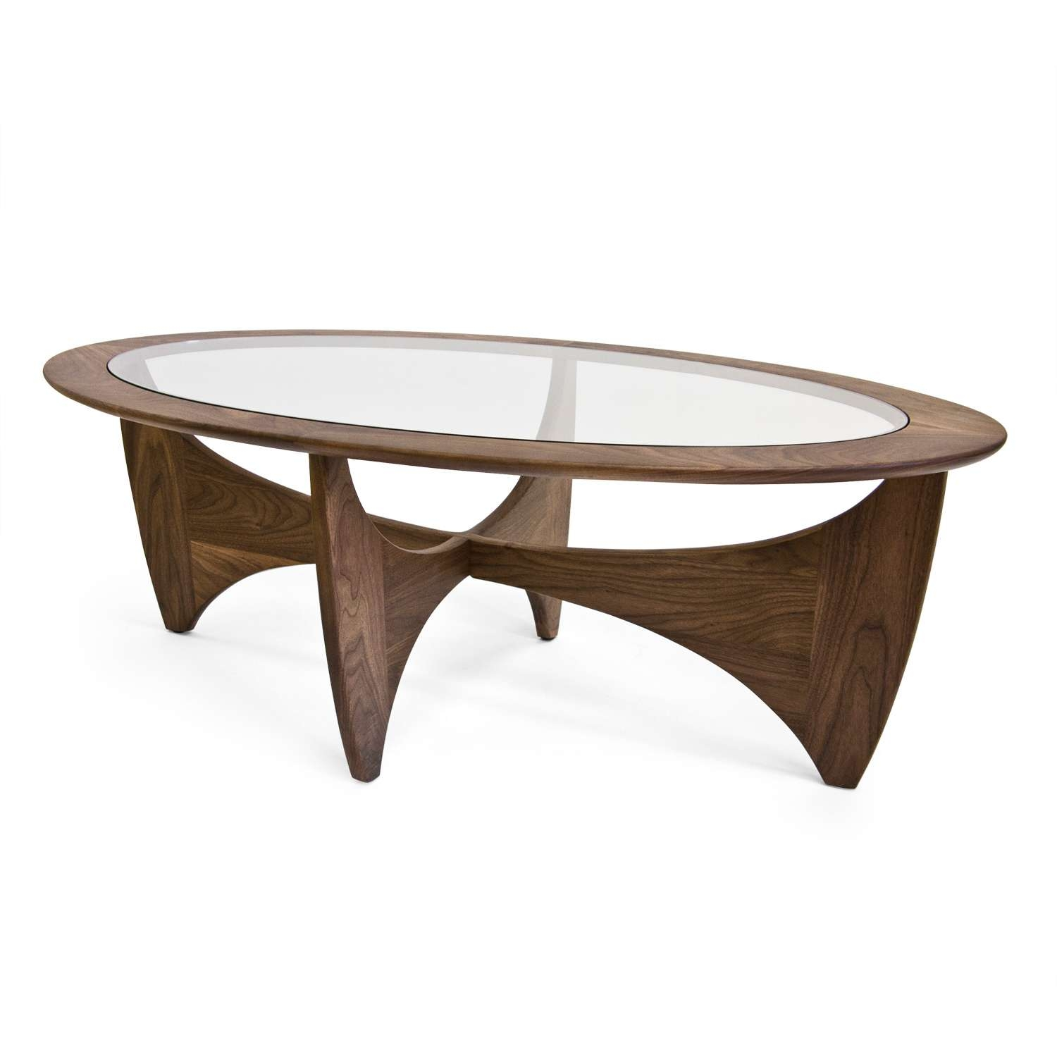 View Gallery Of Oval Walnut Coffee Tables Showing Of Photos - Angela coffee table