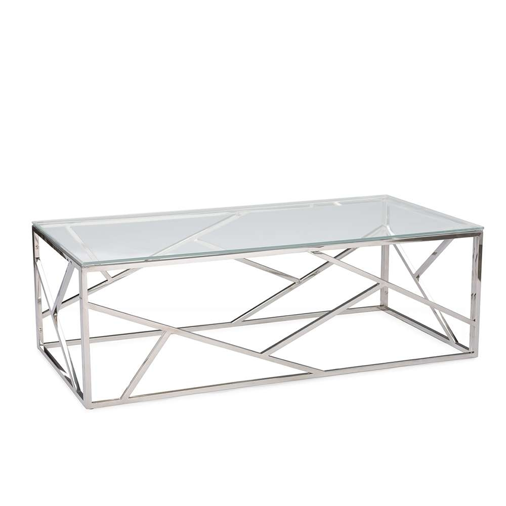 Aero Chrome Glass Coffee Table (View 3 of 20)