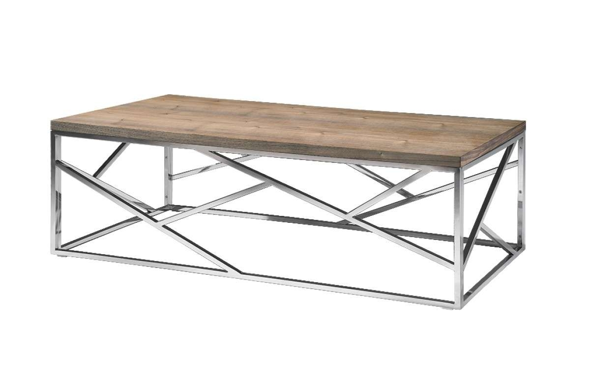 Aero Chrome Wood Coffee Table (View 1 of 20)