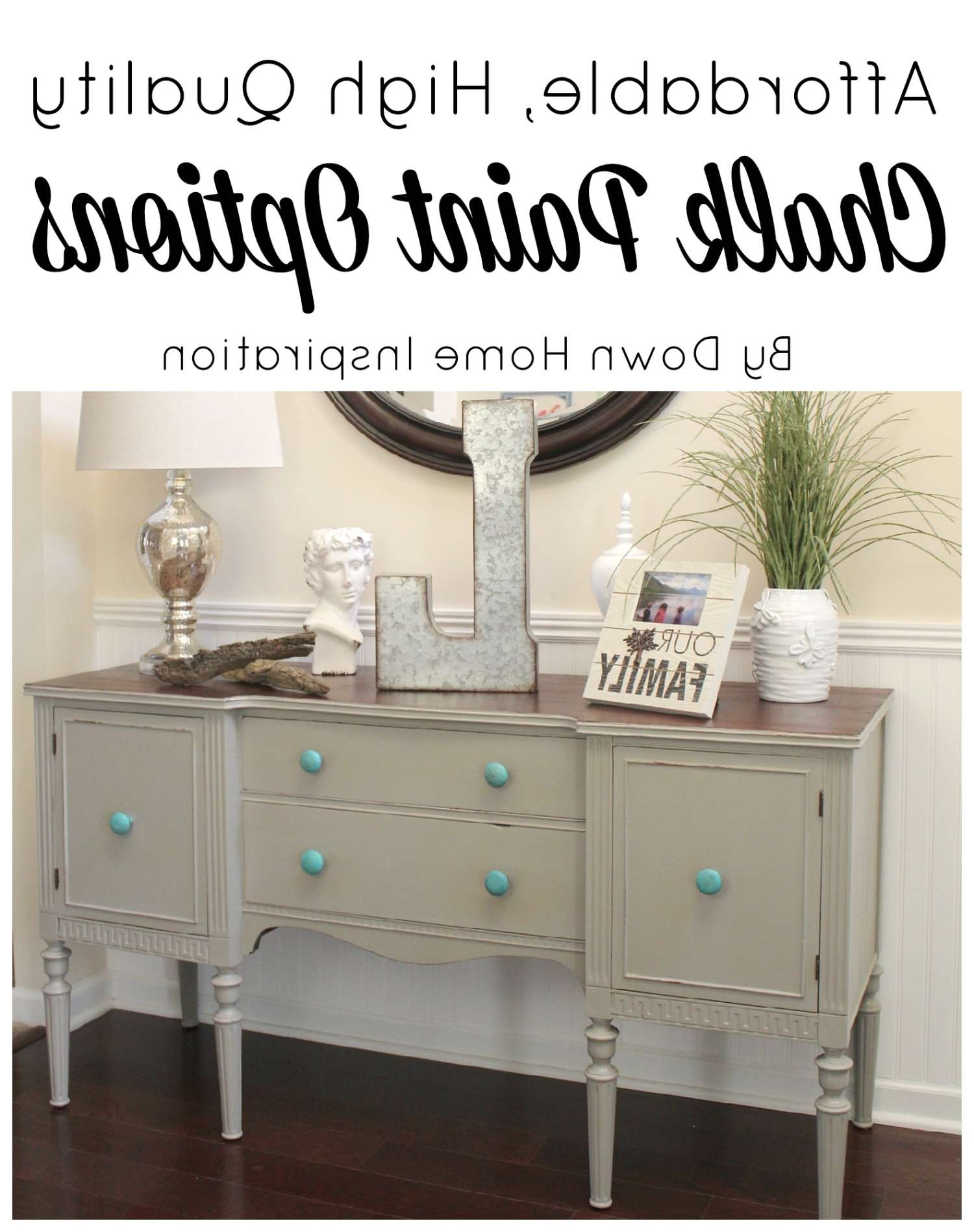 Affordable And High Quality Chalk Paint Options And My Sideboard With Chalk Painted Sideboards (View 2 of 20)