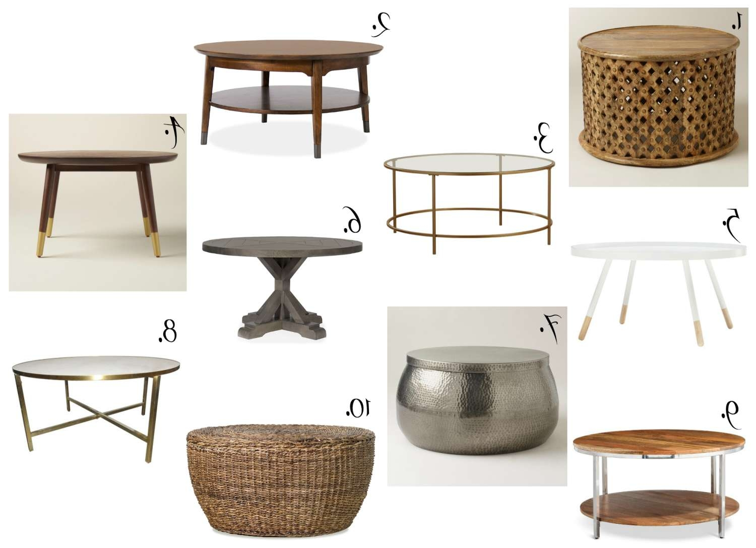 Affordable Round Coffee Tables – The Chronicles Of Home Regarding Popular Round Woven Coffee Tables (Gallery 1 of 20)
