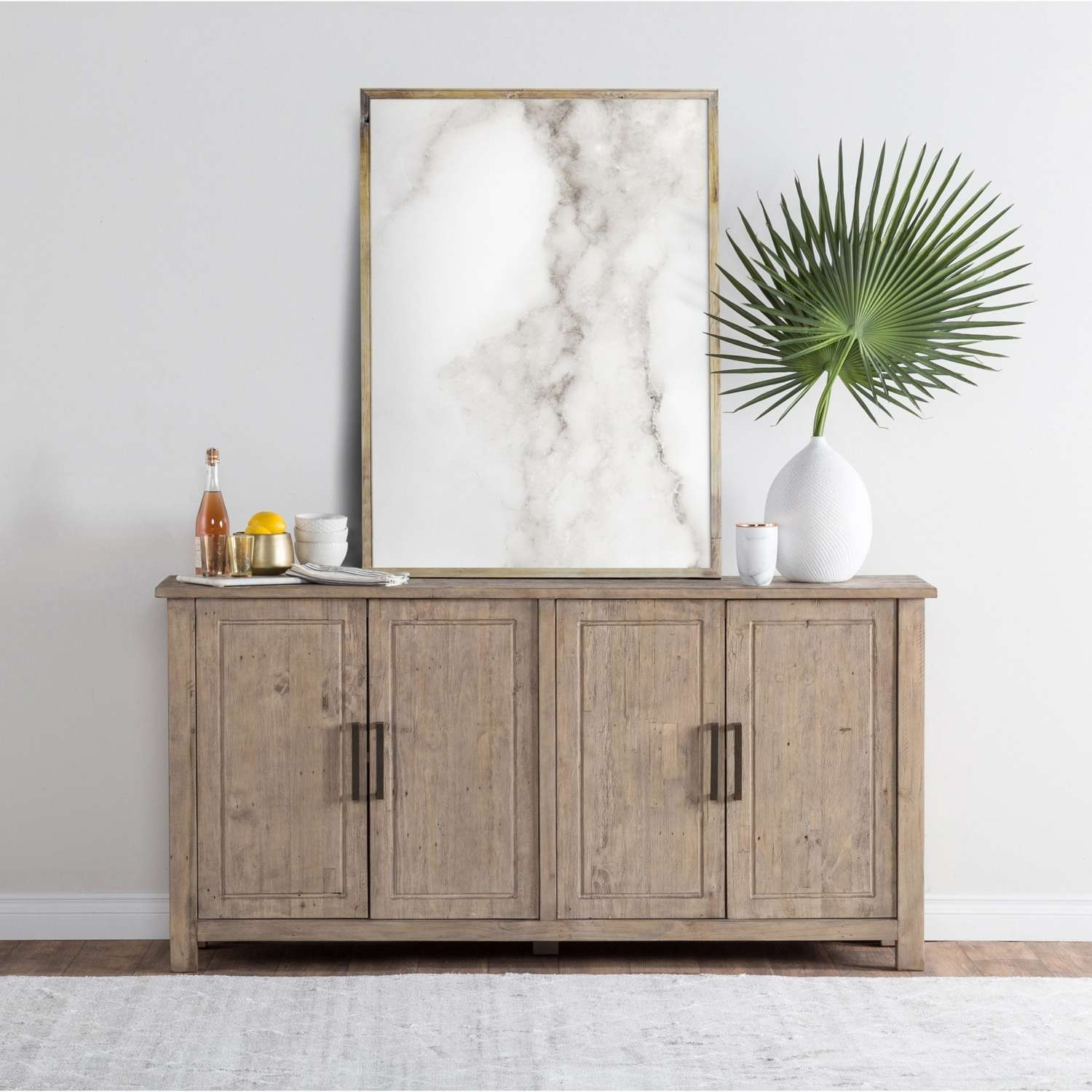 Aires Reclaimed Wood 72 Inch Sideboardkosas Home – Free Throughout 14 Inch Deep Sideboards (View 16 of 20)