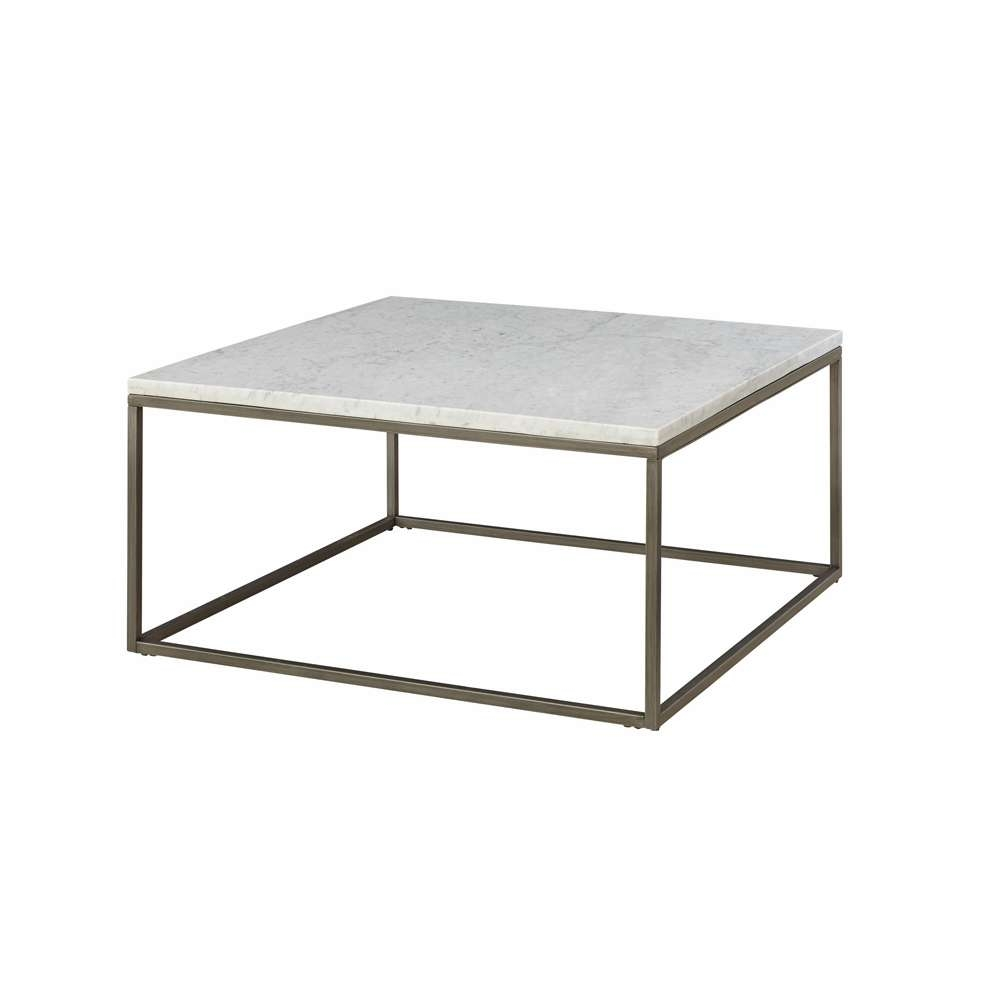 Alana Square Coffee Table With White Marble Top – 836 065_Mbw 065 Within Preferred White Square Coffee Table (Gallery 5 of 20)