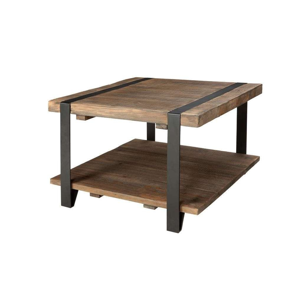 Alaterre Furniture Modesto Rustic Natural Storage Coffee Table For Well Liked Square Storage Coffee Table (Gallery 20 of 20)