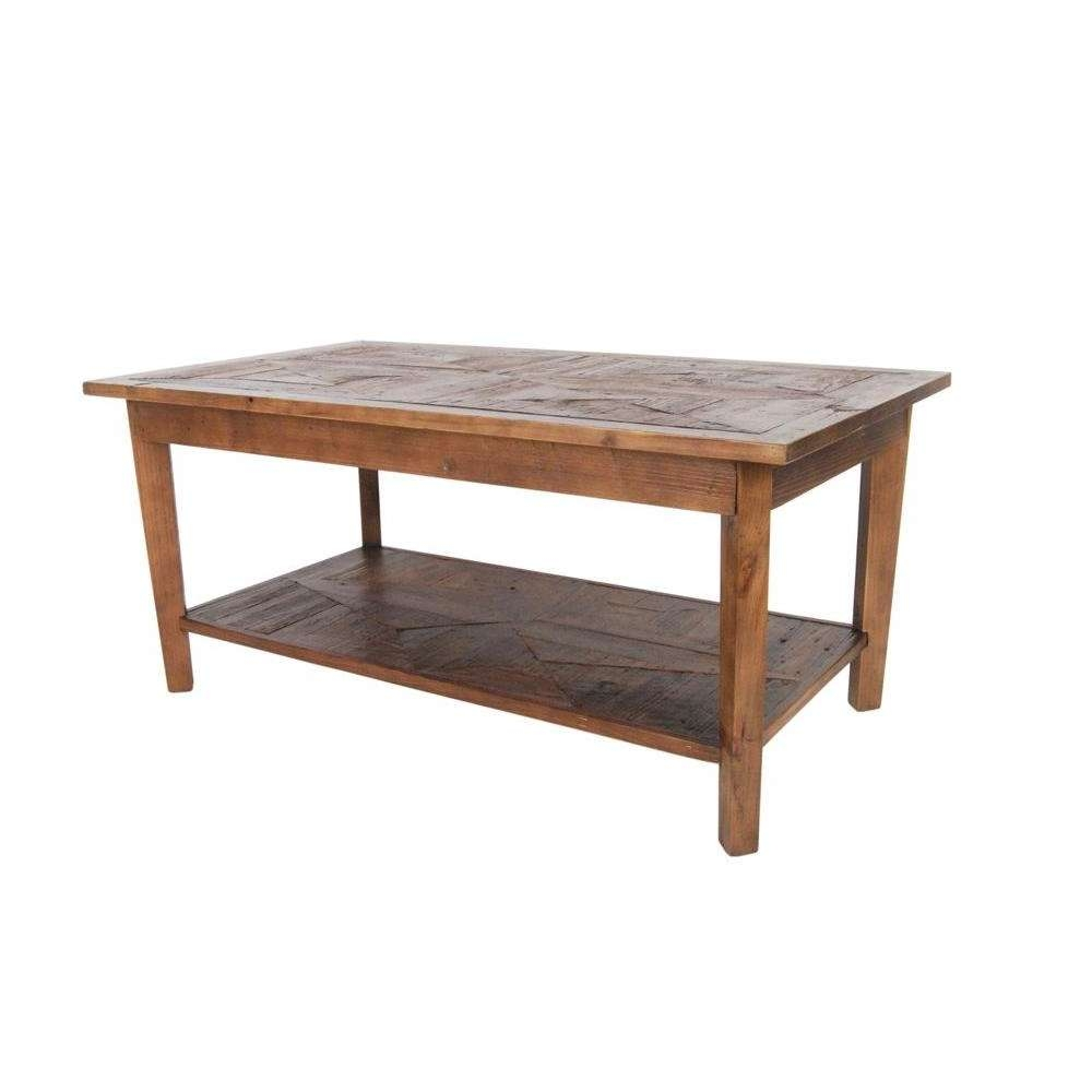 Alaterre Furniture Revive Natural Oak Storage Coffee Table Throughout Well Known Oak Wood Coffee Tables (Gallery 20 of 20)