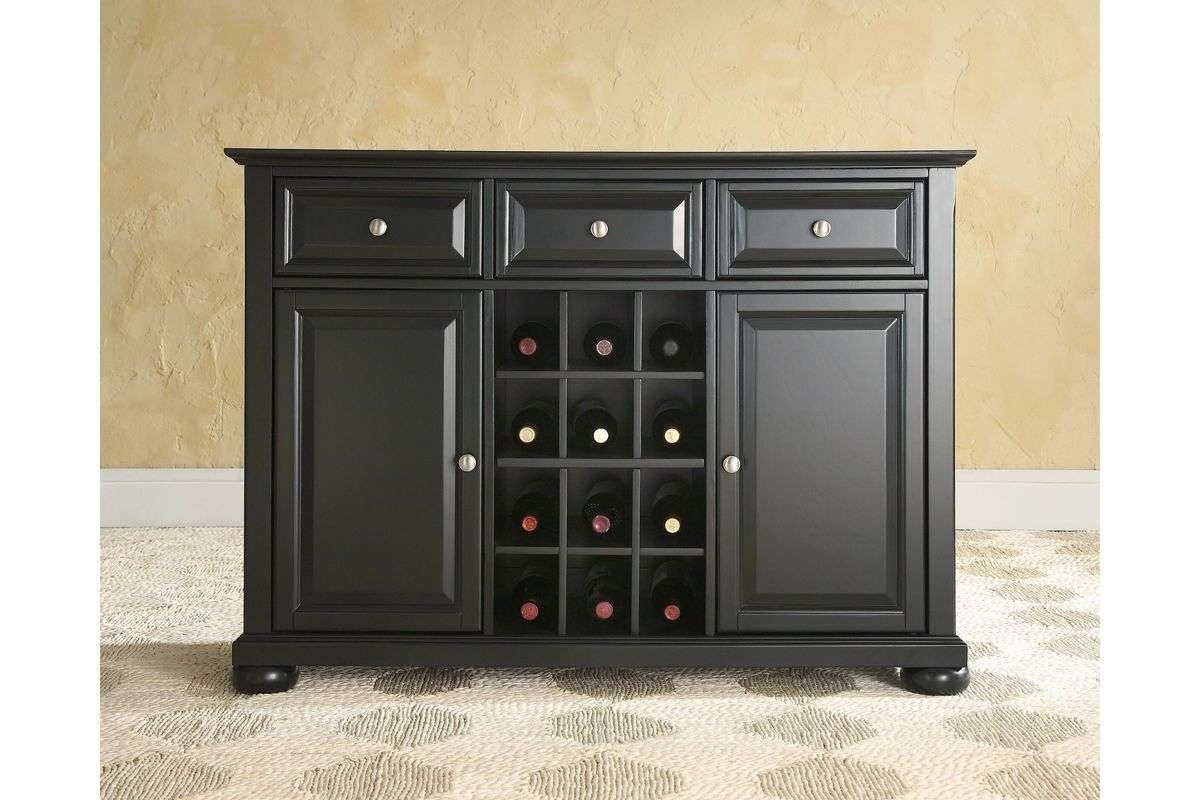 Alexandria Buffet Server / Sideboard Cabinet With Wine Storage In Within Buffet Servers And Sideboards (View 7 of 20)