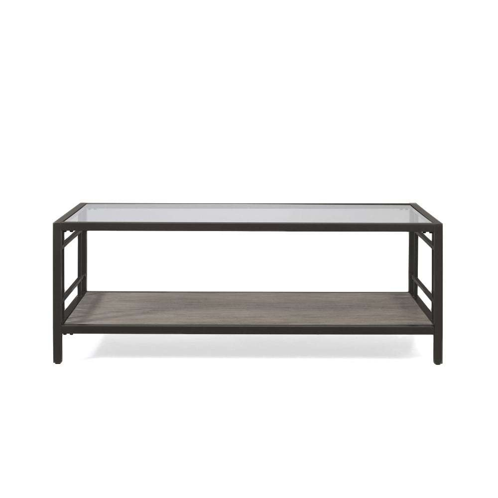 Alice Wood/ Glass/ Metal Coffee Table – Free Shipping Today With Well Known Glass Metal Coffee Tables (View 15 of 20)