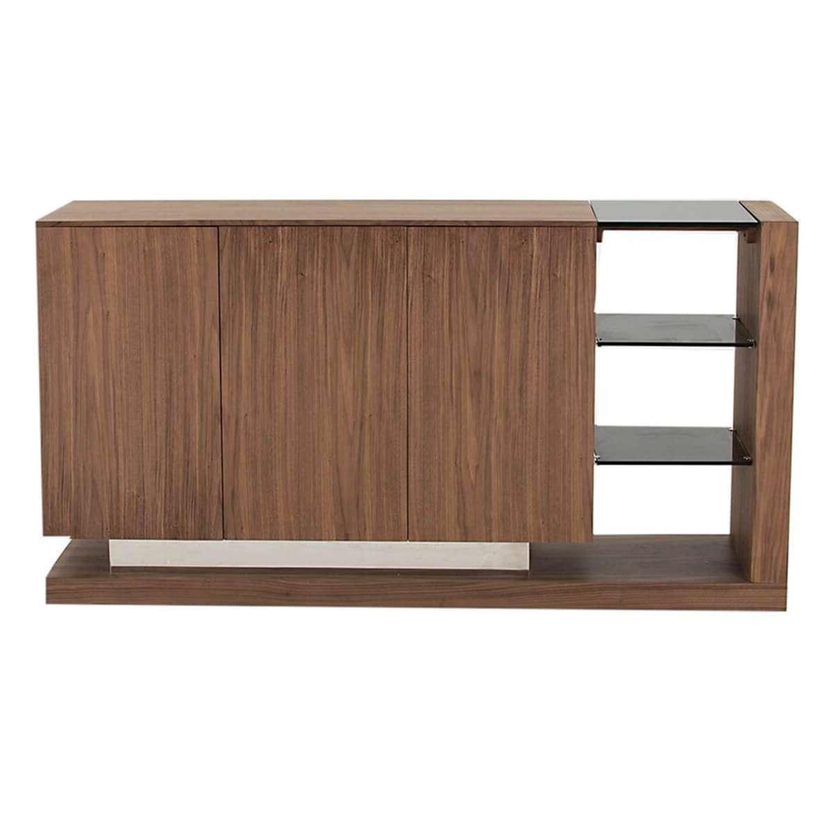 Almara Steel & Walnut Sideboard | Modern Sideboards | Fads Throughout Modern Sideboards (View 1 of 20)