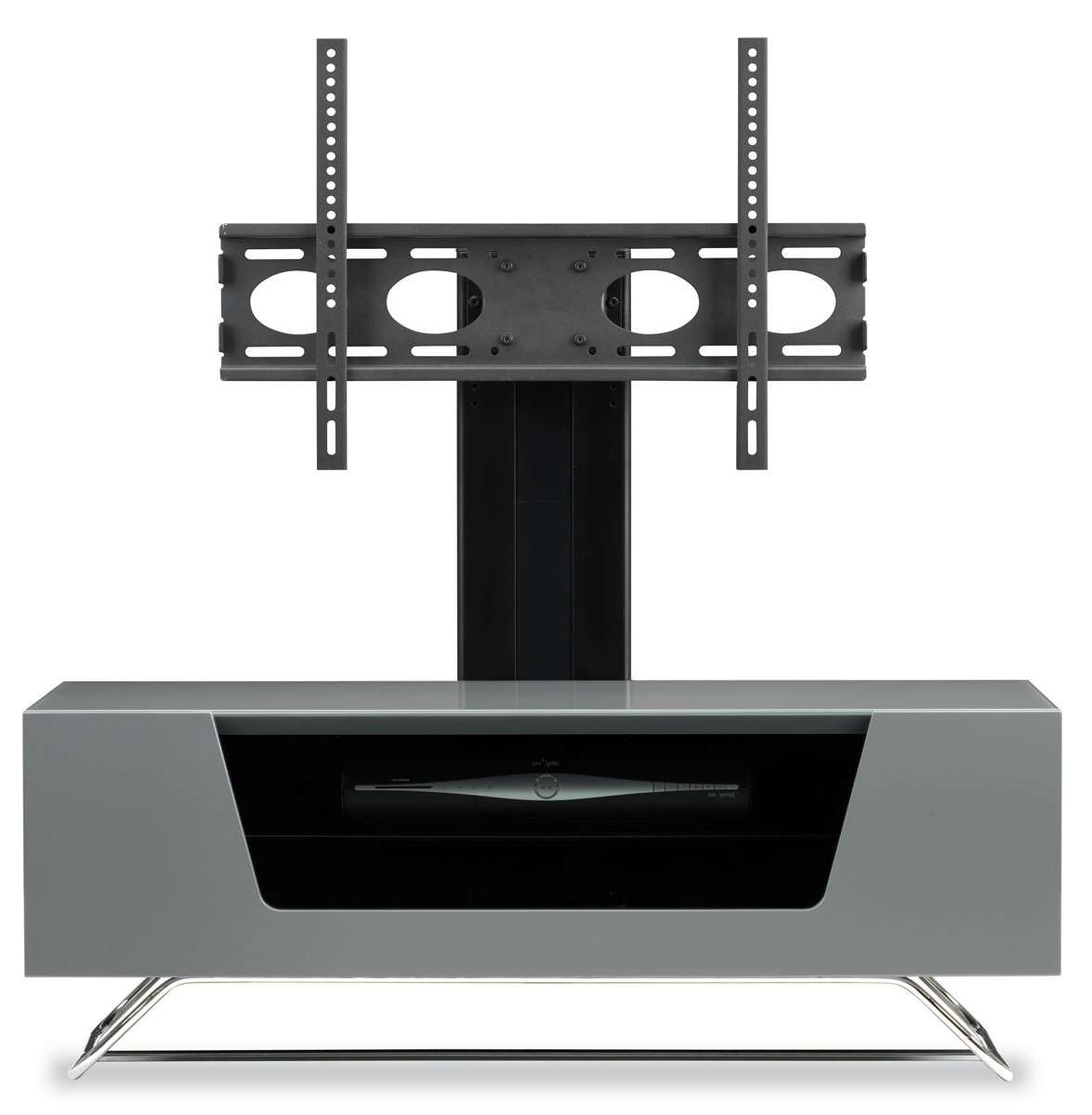 Alphason Chromium Grey Cantilever Tv Stand Throughout Alphason Tv Cabinets (View 6 of 20)
