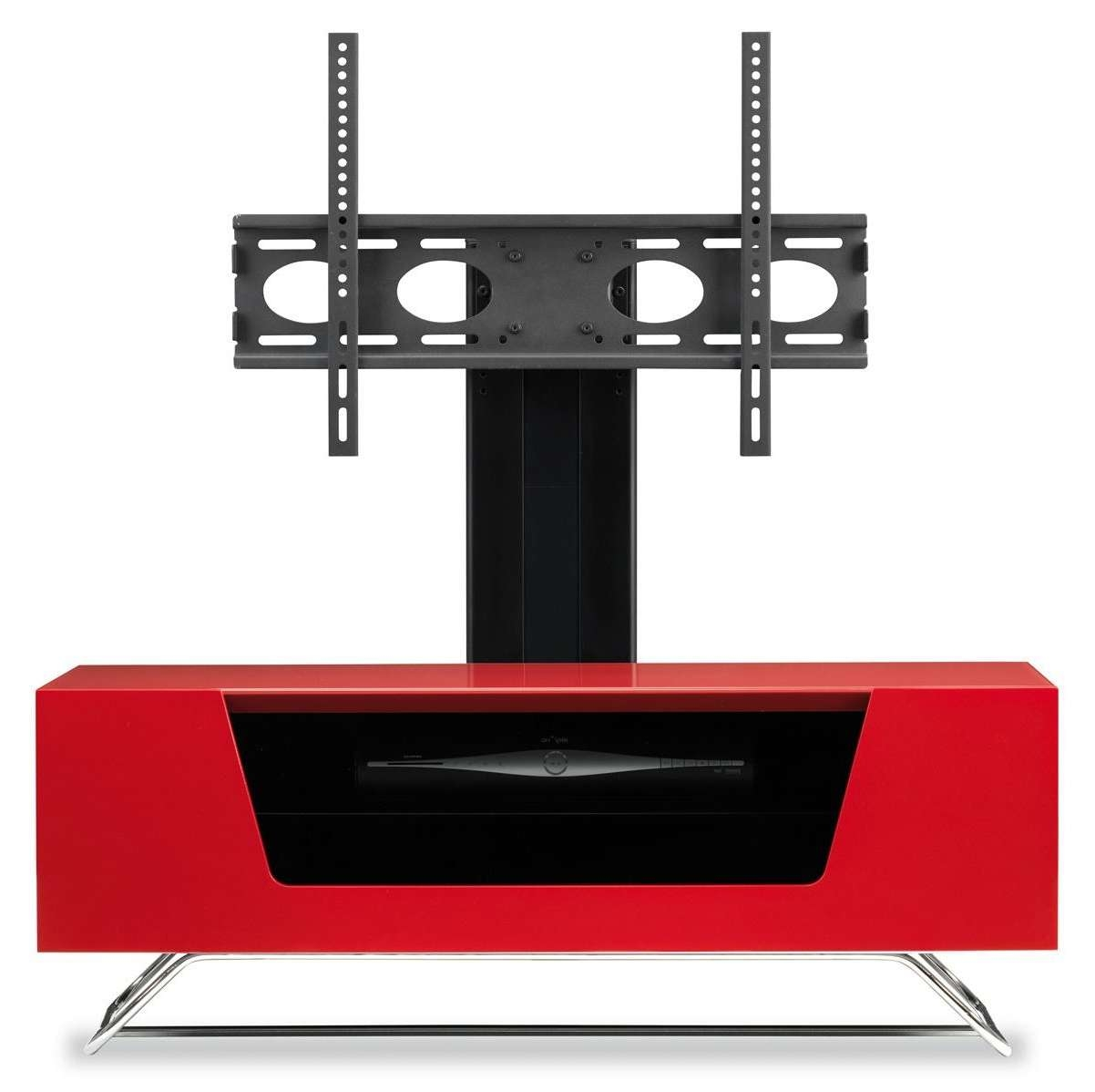 Alphason Chromium Red Cantilever Tv Stand In Red Tv Cabinets (View 1 of 20)