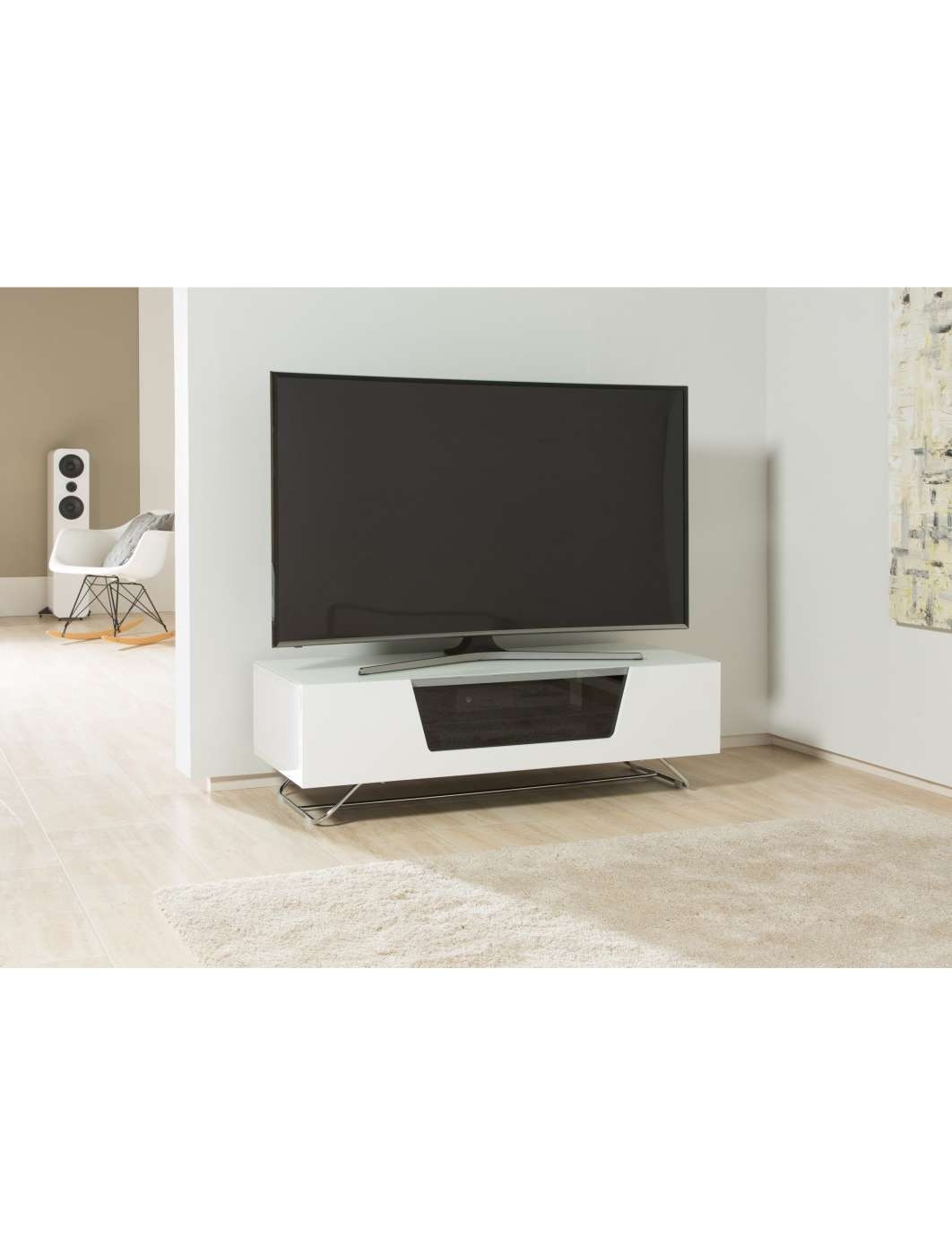 Alphason Chromium Tv Stand Cro2 1200Cb Wht | 121 Tv Mounts With Regard To Alphason Tv Cabinets (View 9 of 20)