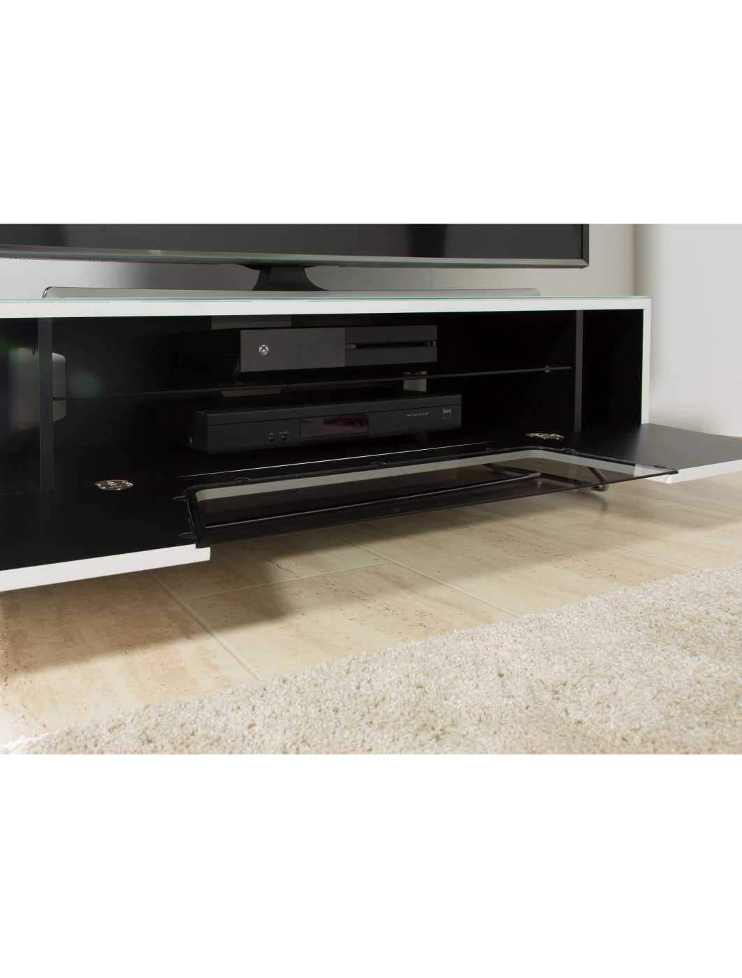 Alphason Chromium Tv Stand Cro2 1200Cb Wht | 121 Tv Mounts Within Alphason Tv Cabinets (View 10 of 20)