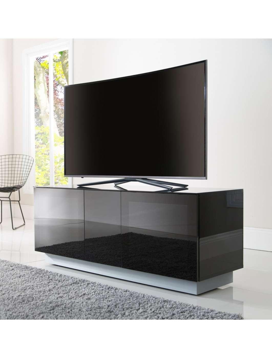 Alphason Emt1250xl Blk Element Modular Tv Stand   121 Tv Mounts Inside Alphason Tv Cabinets (View 19 of 20)