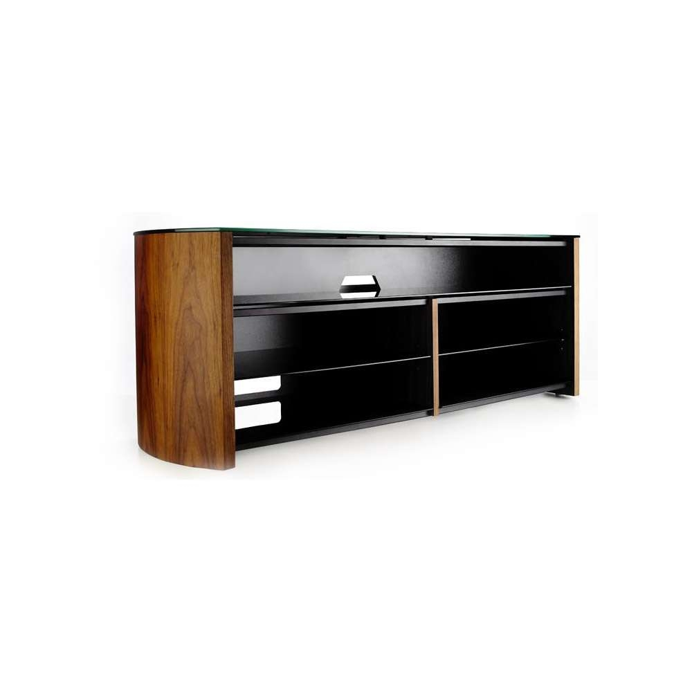 Alphason Finewoods Fw1350Sb Walnut Soundbar Ready Tv Stand Intended For Alphason Tv Cabinets (View 13 of 20)