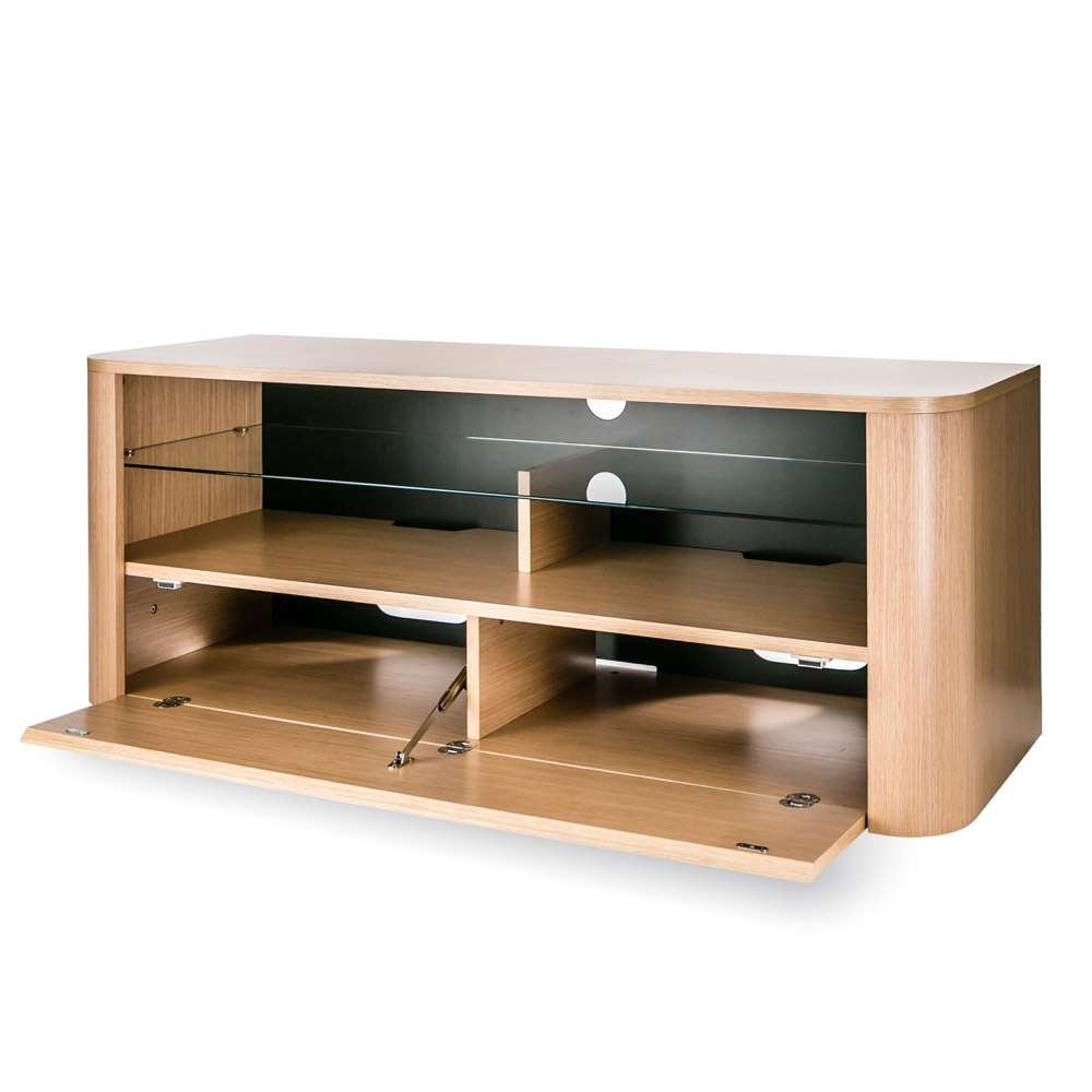 Alphason Hugo Adh1260 Light Oak Soundbar Ready Tv Cabinet W/ Tv Throughout Alphason Tv Cabinets (View 6 of 20)
