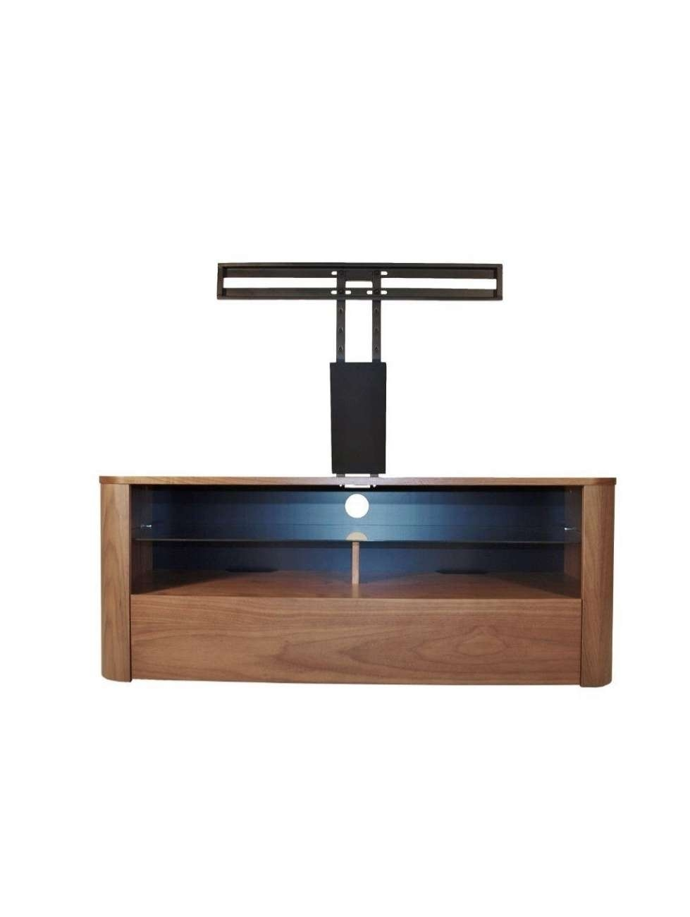Alphason Hugo Tv Stand Adh1260 Wal Walnut With Bracket | 121 Tv Mounts Throughout Walnut Tv Cabinets (View 1 of 20)
