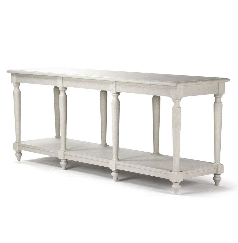 Alsace French Country Light Grey White Wash Long Buffet Console With Regard To Whitewash Buffets Sideboards (View 19 of 20)