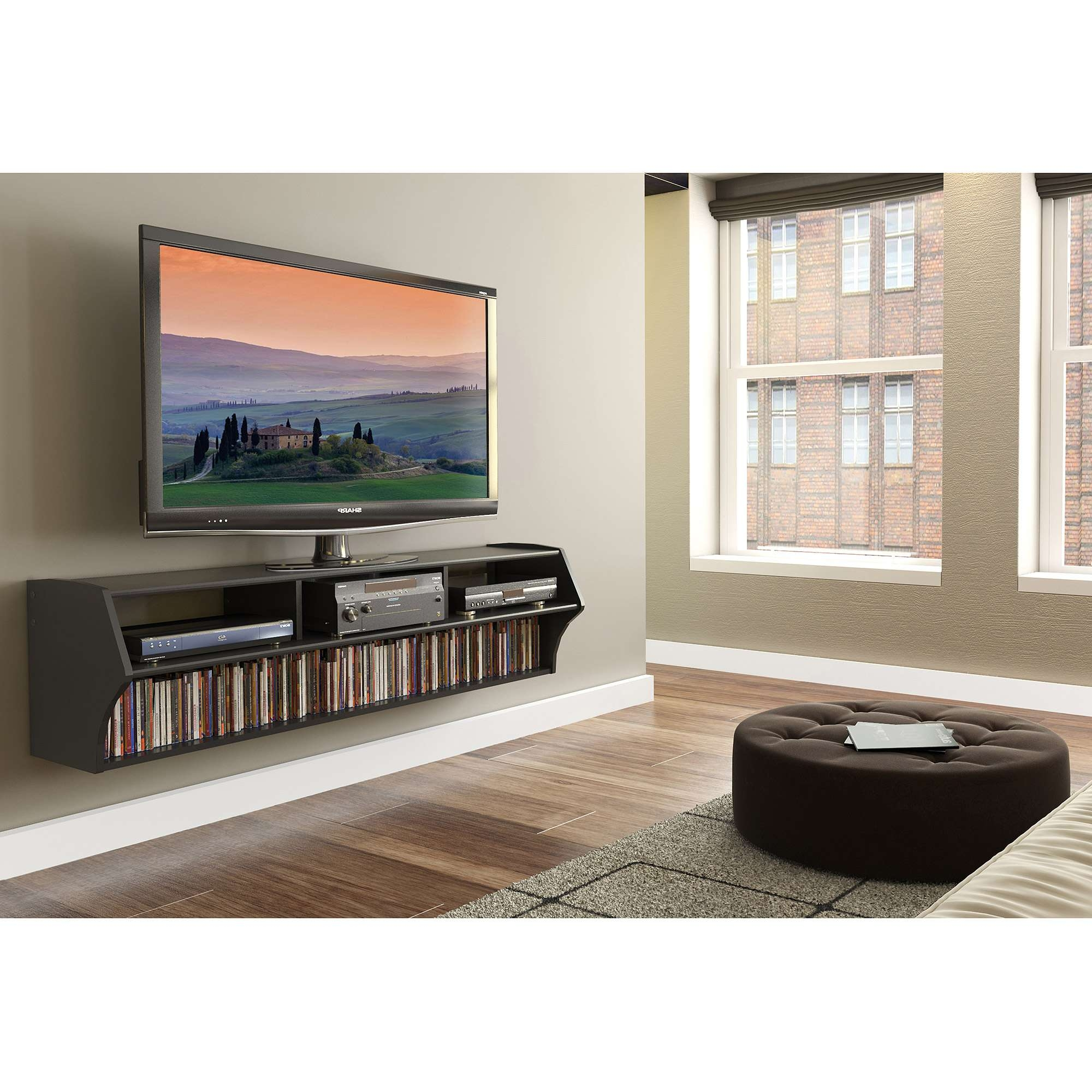 "Altus Plus Floating Tv Stand For Tvs Up To 60"" – Walmart With Regard To Floating Tv Cabinets (View 1 of 20)"