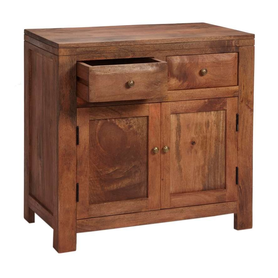 Alwar Mango Light Solid Wood Sideboard With 2 Drawers In Solid Wood Sideboards (View 2 of 20)