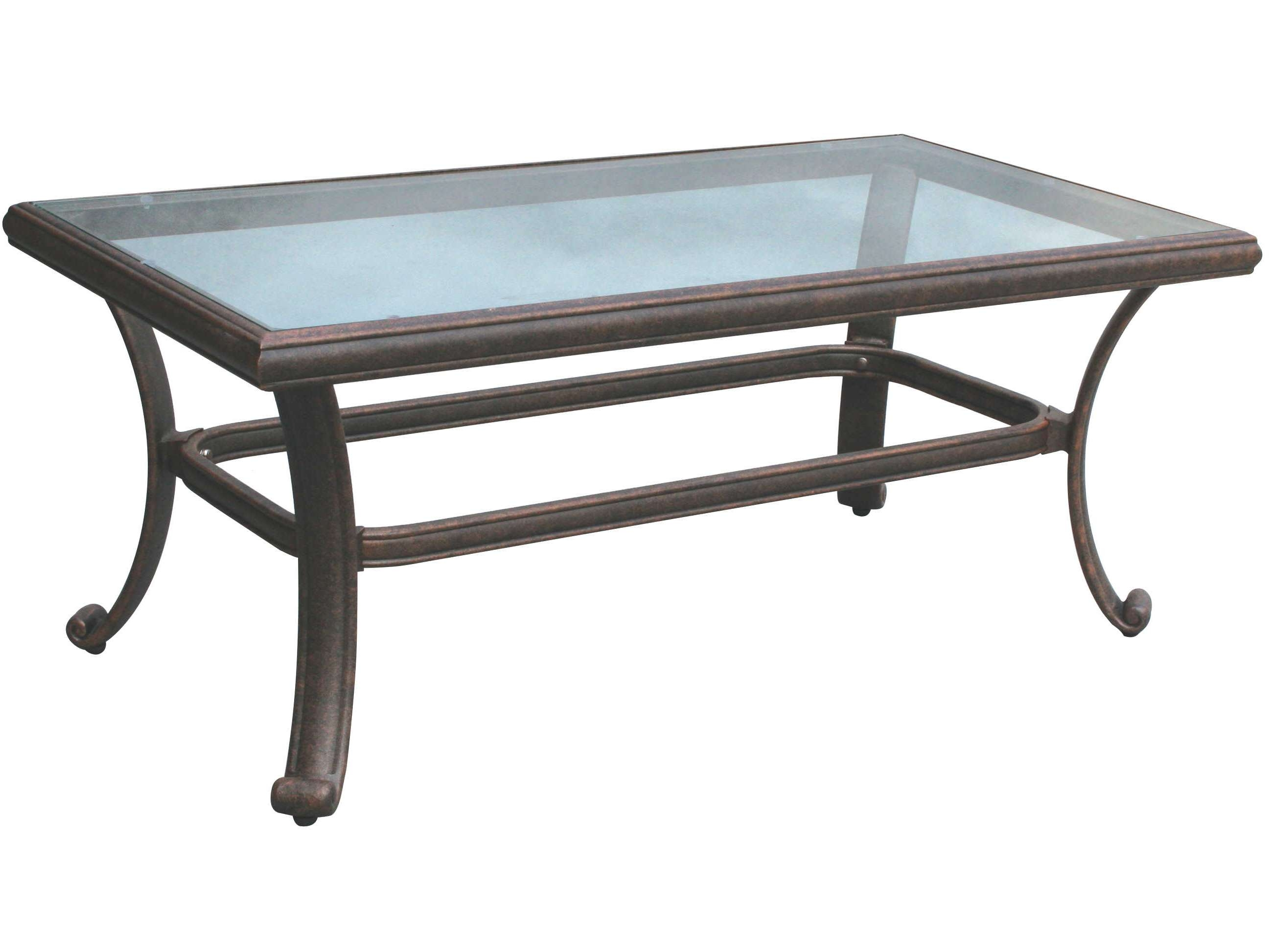 Amazing Of Patio Coffee Tables Darlee Outdoor Living Glass Top In Most Up To Date Vintage Glass Top Coffee Tables (View 19 of 20)