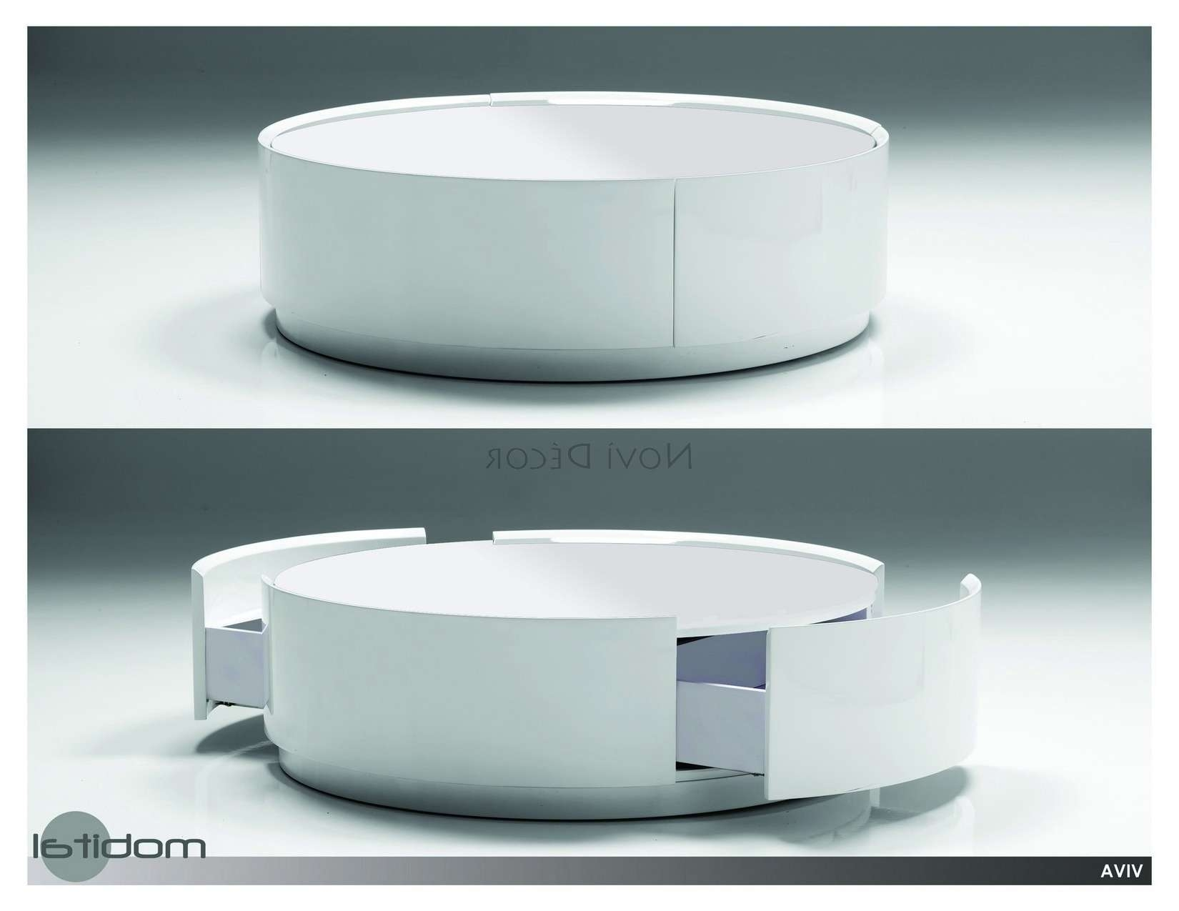 Amazing Round Coffee Tables With Storage Pics Ideas – Tikspor For Most Popular Circular Coffee Tables With Storage (View 3 of 20)