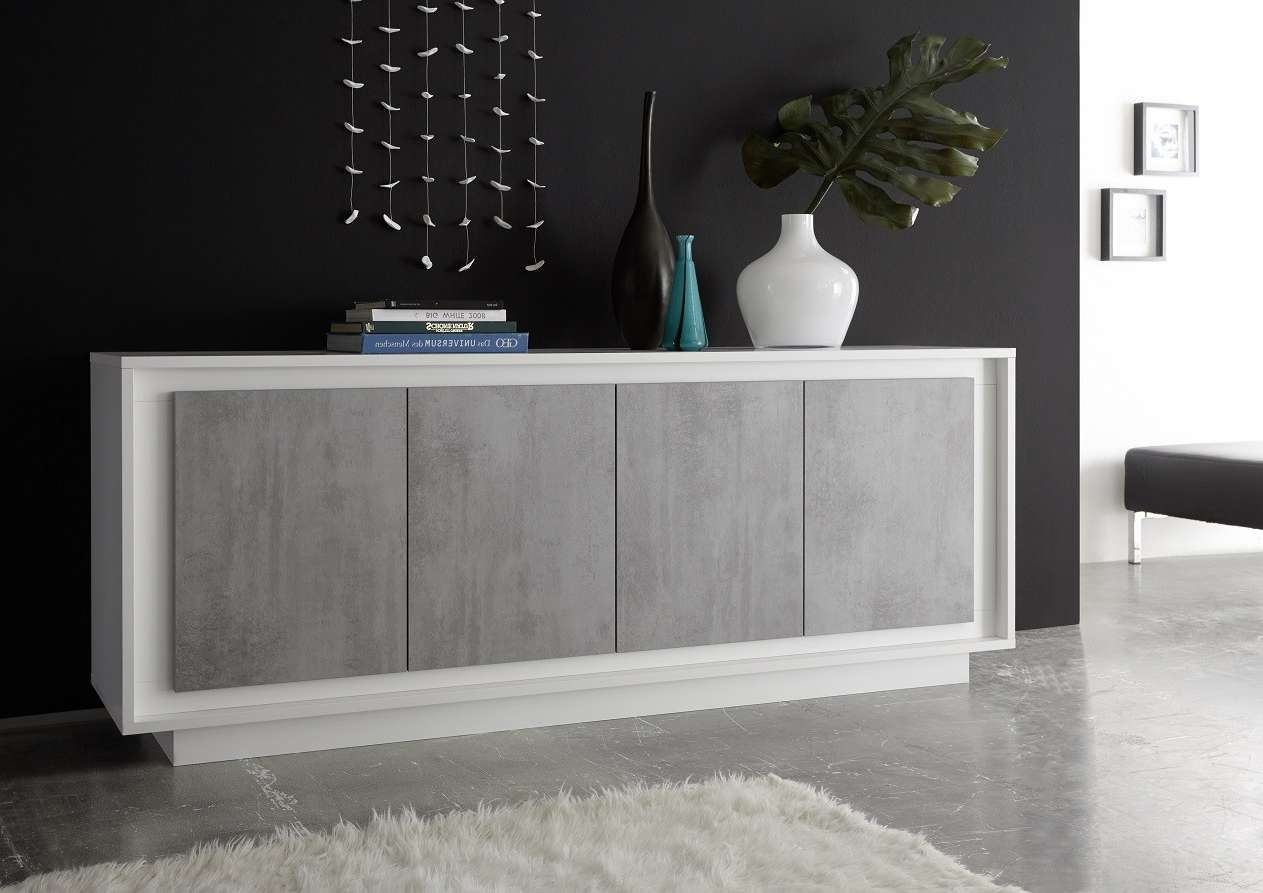 Amber Iv Modern Sideboard With Stone Imitation Fronts – Sideboards With Contemporary Sideboards (View 4 of 20)