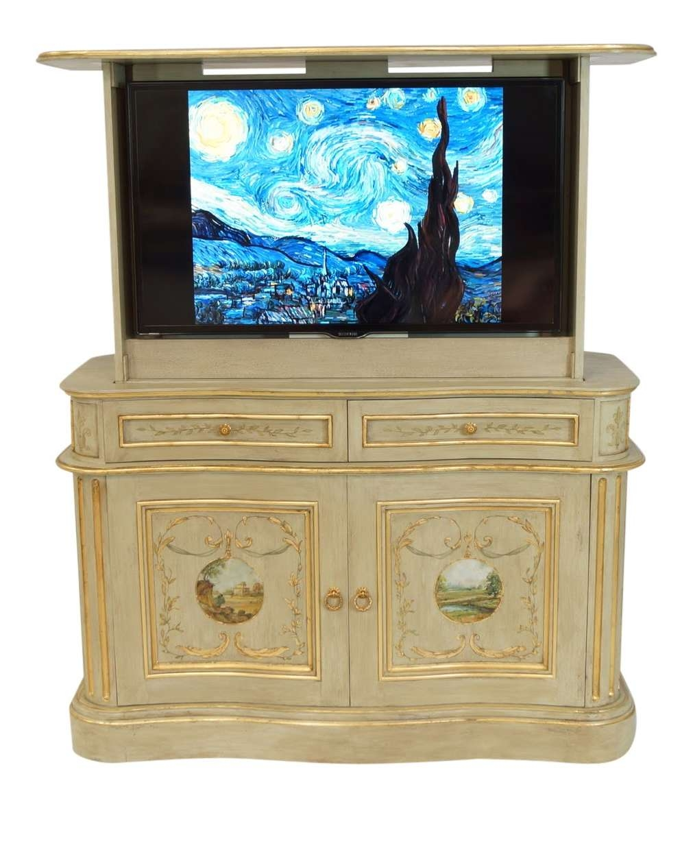 American Tv Lift Cabinet – French Country Bon Air Tv Cabinet – Youtube Inside French Country Tv Cabinets (View 1 of 20)