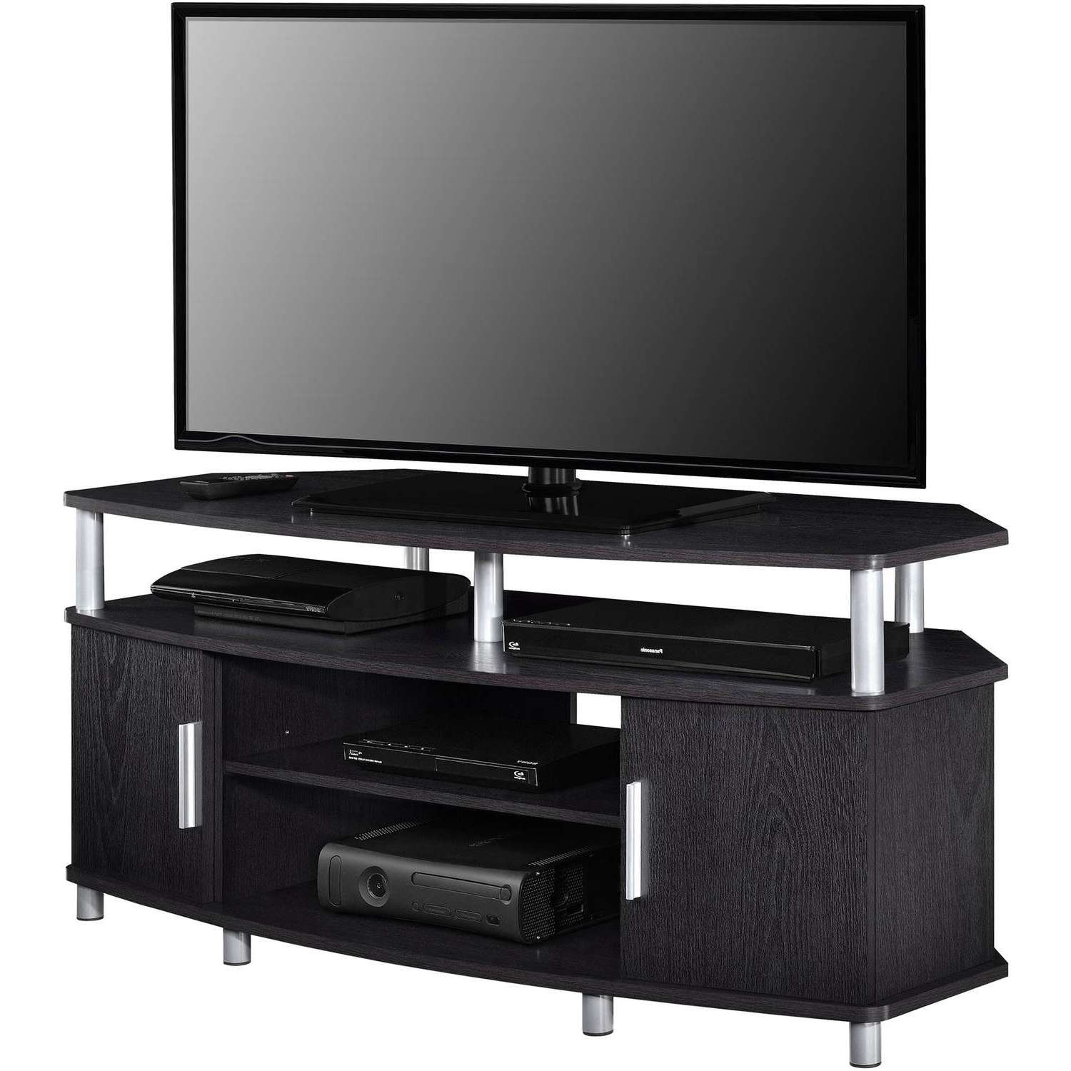 "Ameriwood Home Carson Corner Tv Stand For Tvs Up To 50"" Wide Intended For 50 Inch Corner Tv Cabinets (View 5 of 20)"