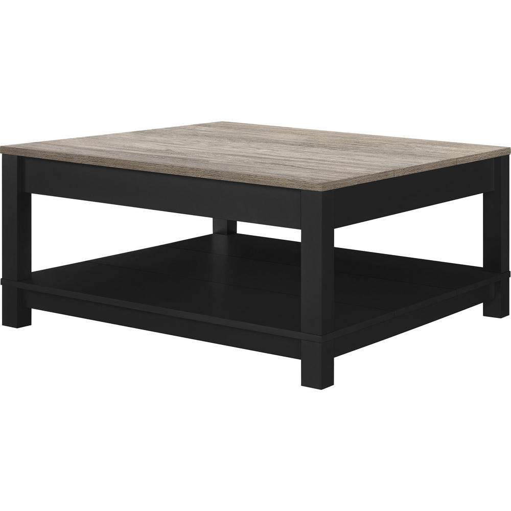 Ameriwood Home Viola Matte Black Storage Coffee Table Hd80217 Regarding Recent Storage Coffee Tables (View 2 of 20)