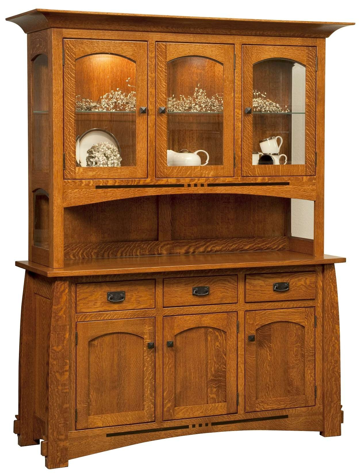 Amish Furniture – Mission Style Furniture – American Made Throughout Mission Style Sideboards (View 2 of 20)