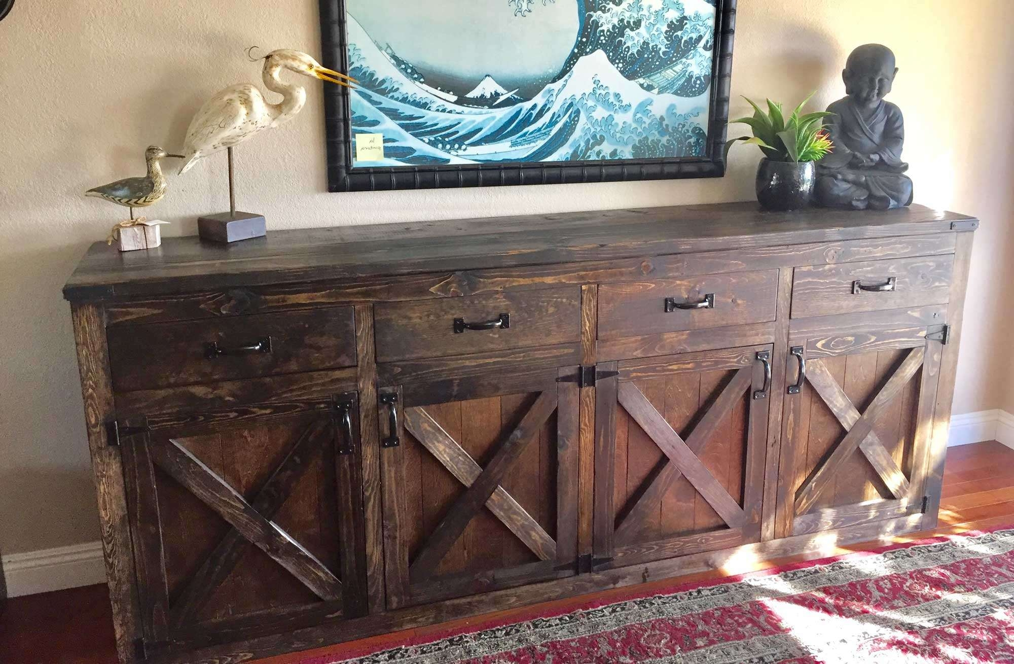 Ana White | Custom 9 Foot Rustic Buffet – Diy Projects Throughout Rustic Sideboards Buffets (View 14 of 20)
