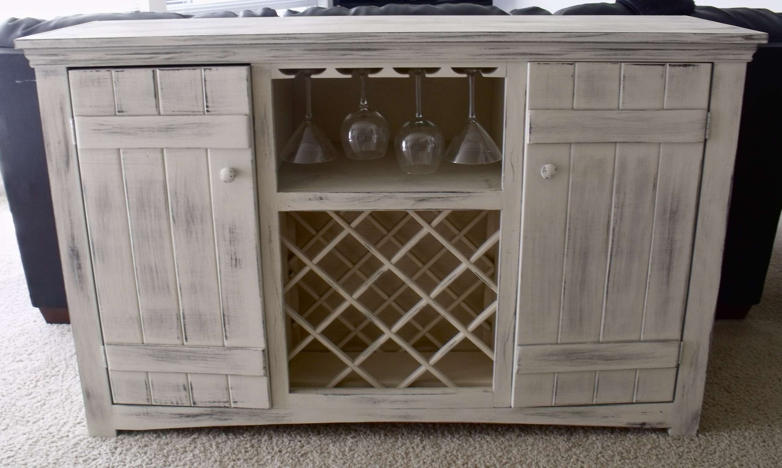 Ana White | Farmhouse Wine Buffet – Diy Projects Intended For White Sideboards Cabinets (View 3 of 20)
