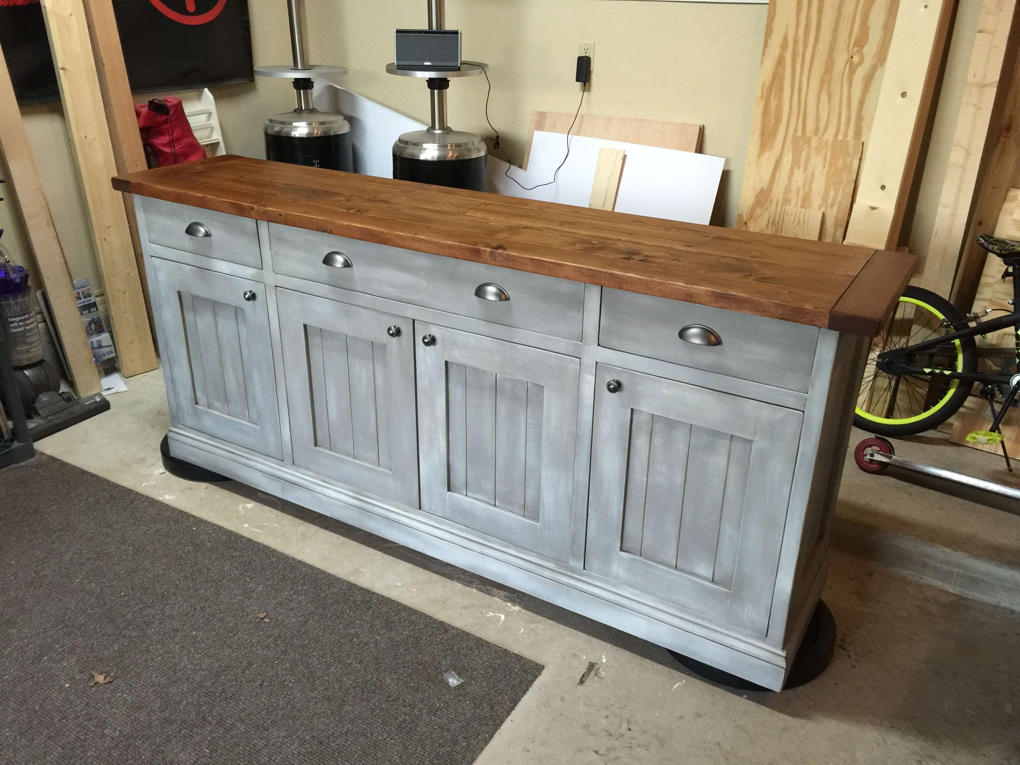 Ana White | Planked Wood Sideboard – Diy Projects With Regard To Diy Sideboards (Gallery 6 of 20)