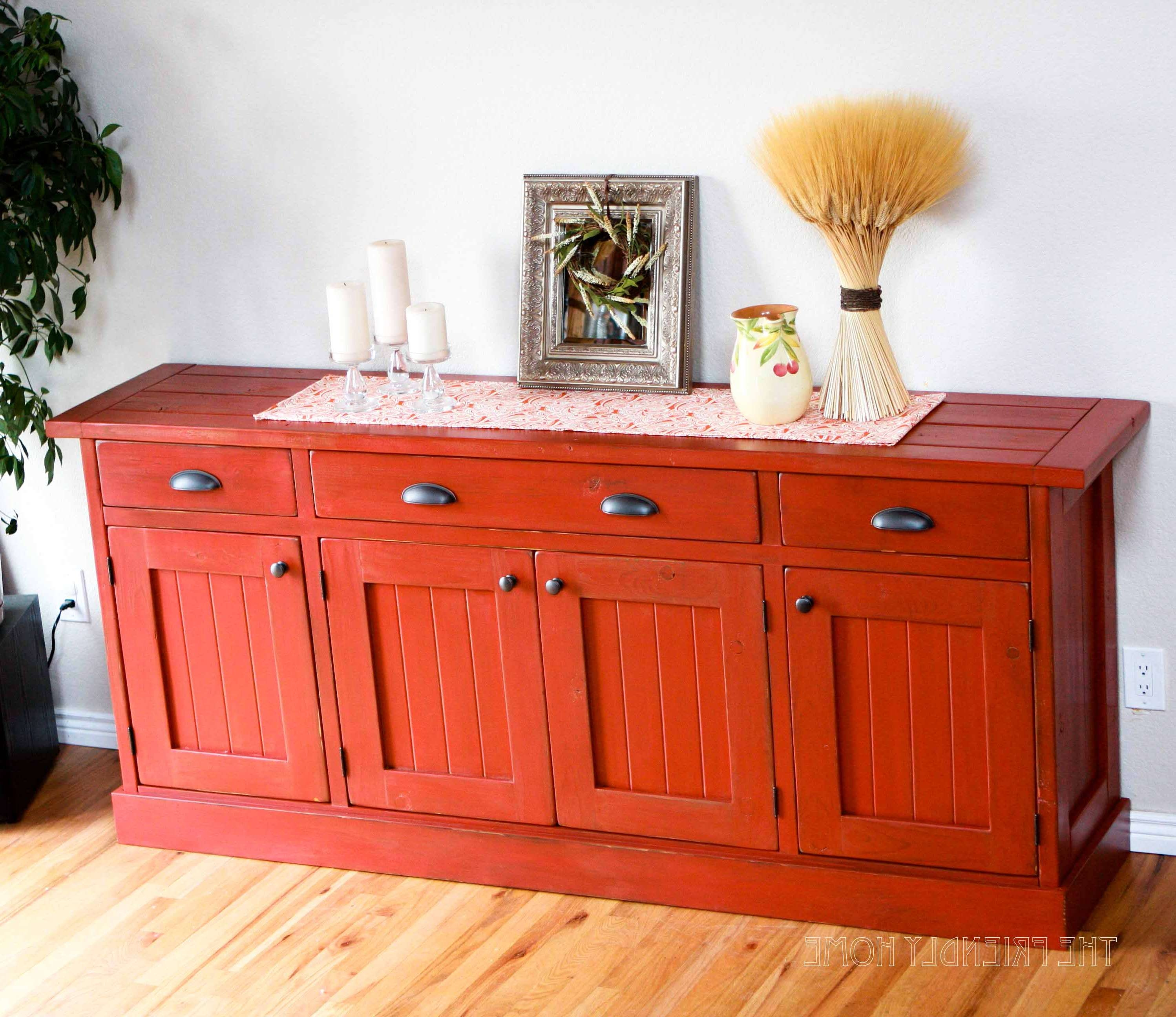 Ana White | Rustic Planked Wood Sideboard – Diy Projects For Diy Sideboards (View 3 of 20)