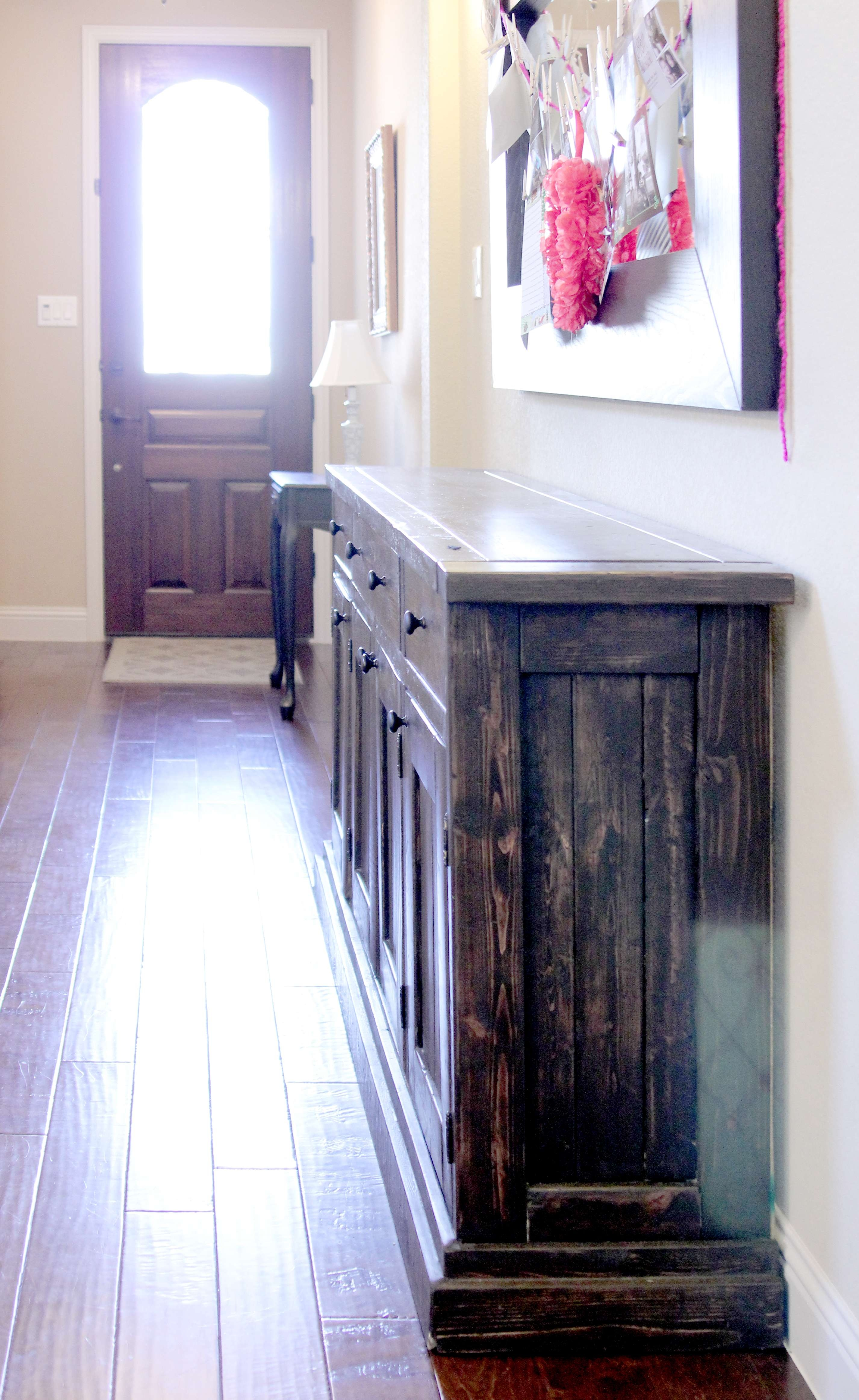 Ana White | Rustic Sideboard / Buffet Table – Diy Projects For Narrow Sideboards And Buffets (View 20 of 20)