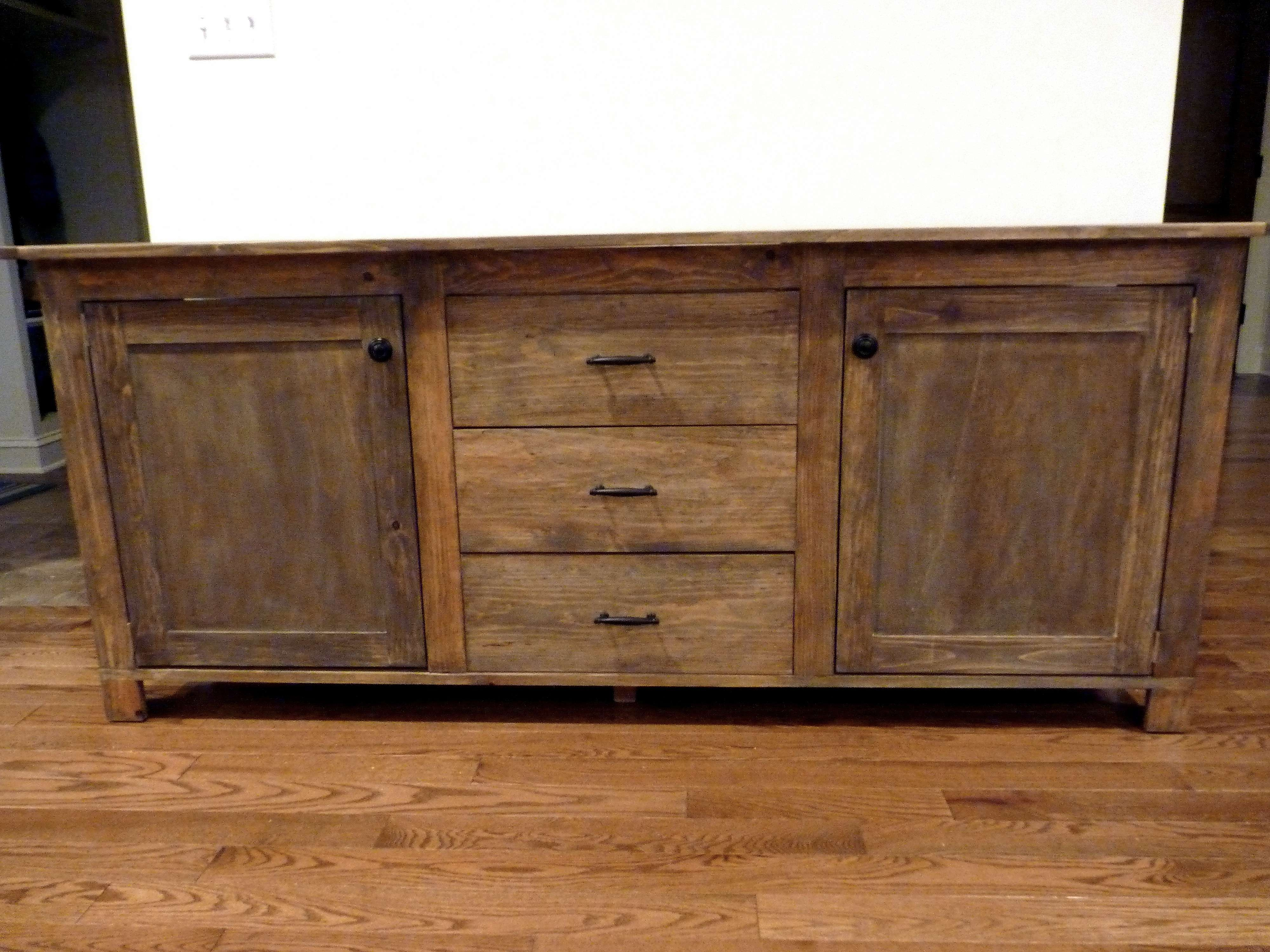 Ana White | Rustic Sideboard – Diy Projects For Diy Sideboards (View 4 of 20)