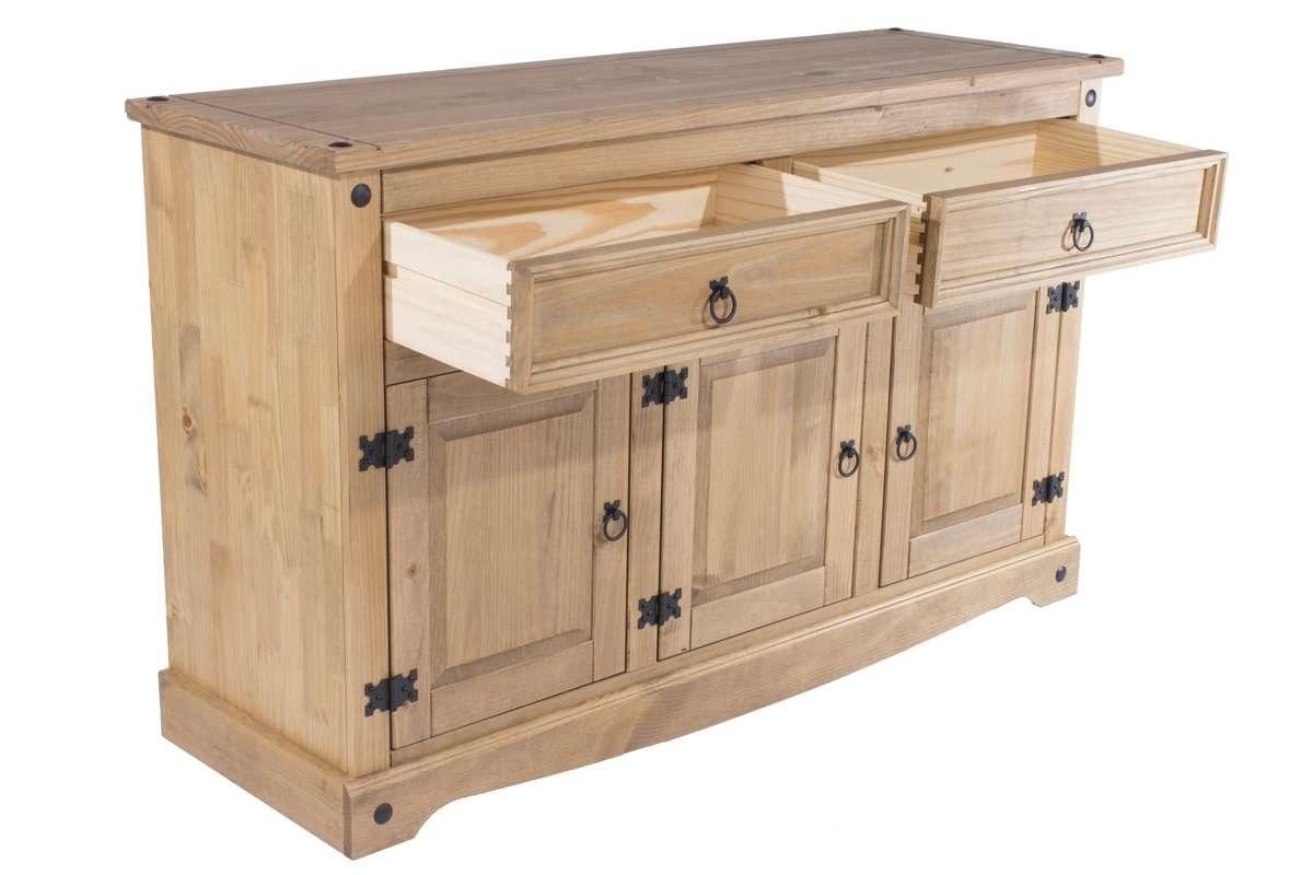 Andover Mills Classic Corona 3 Door 2 Drawer Sideboard & Reviews Inside Wooden Sideboards (View 3 of 20)