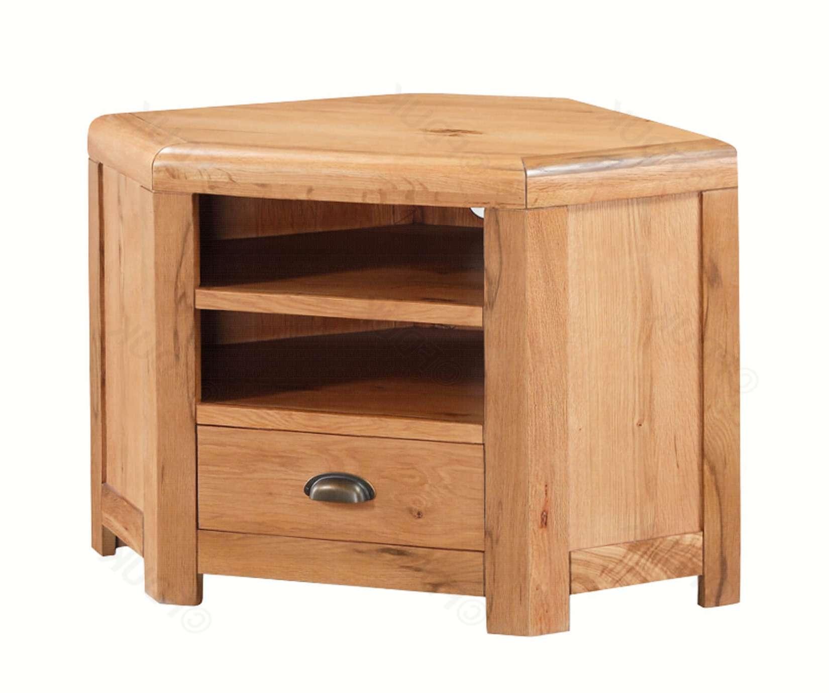 Annaghmore | Oakridge Solid Oak Corner Tv Unit | Furnituredirectuk With Solid Oak Corner Tv Cabinets (View 1 of 20)