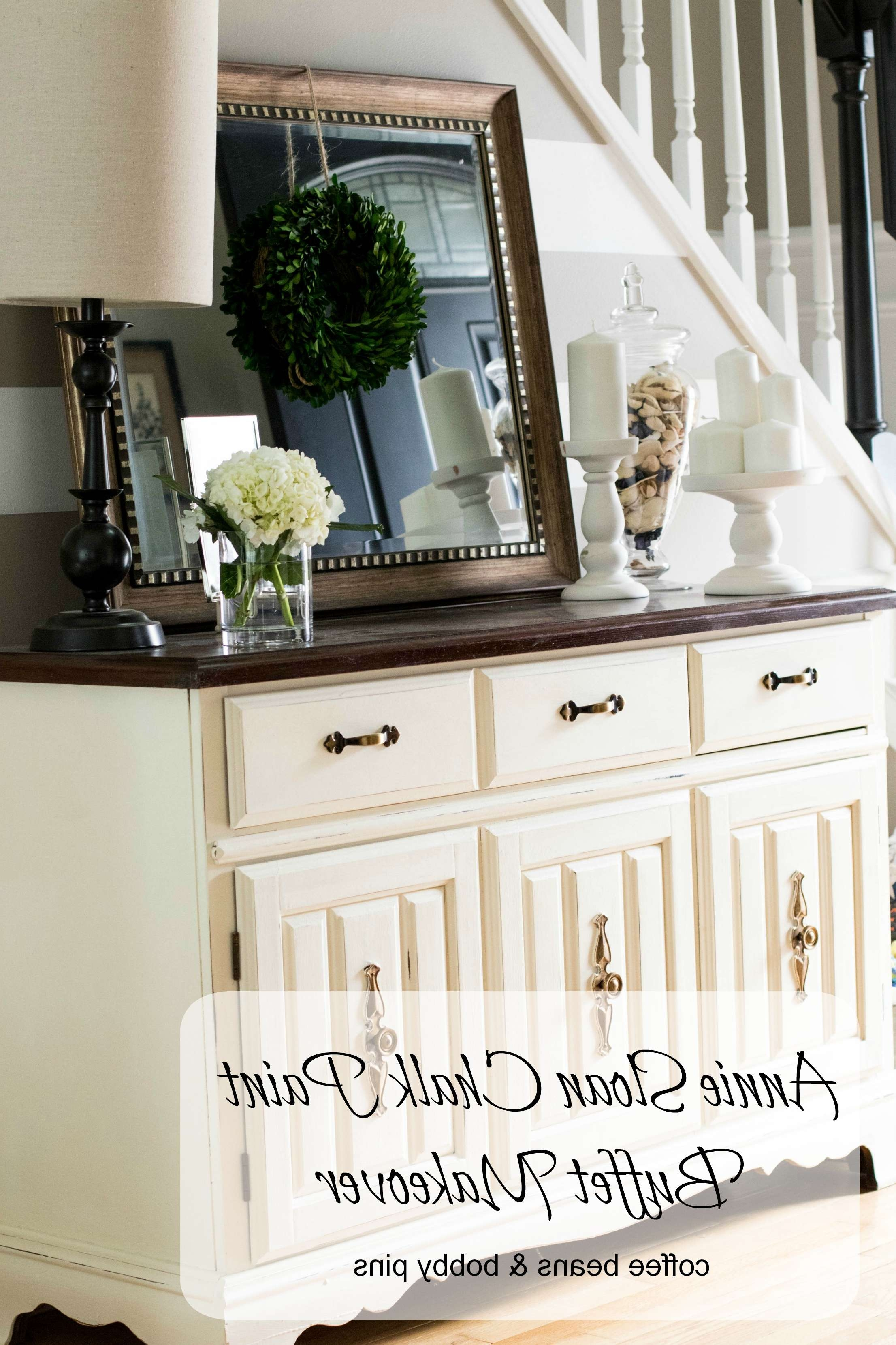 Annie Sloan Chalk Paint: Buffet Makeover | Coffee Beans And Bobby Pins For Chalk Painted Sideboards (View 11 of 20)